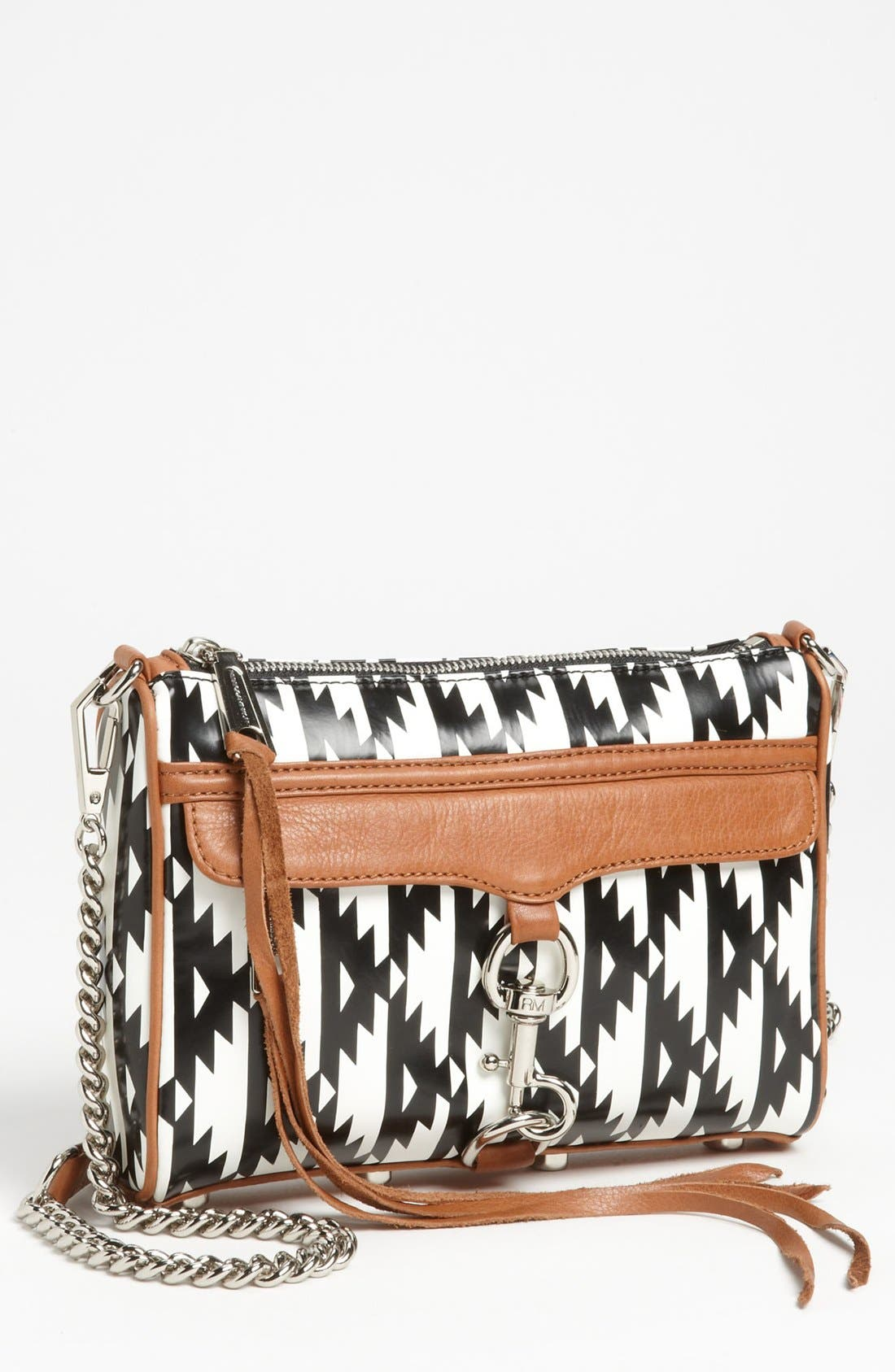 Alternate Image 1 Selected - Rebecca Minkoff 'Mini MAC' Ikat Leather Convertible Crossbody Bag