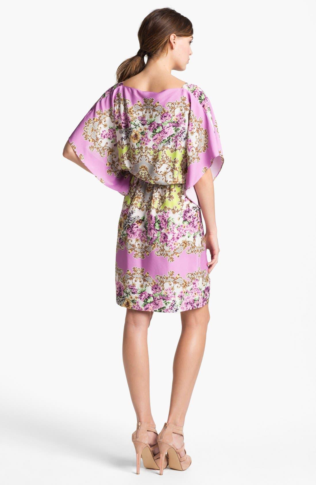 Alternate Image 2  - Maggy London Floral Print Blouson Jersey Dress