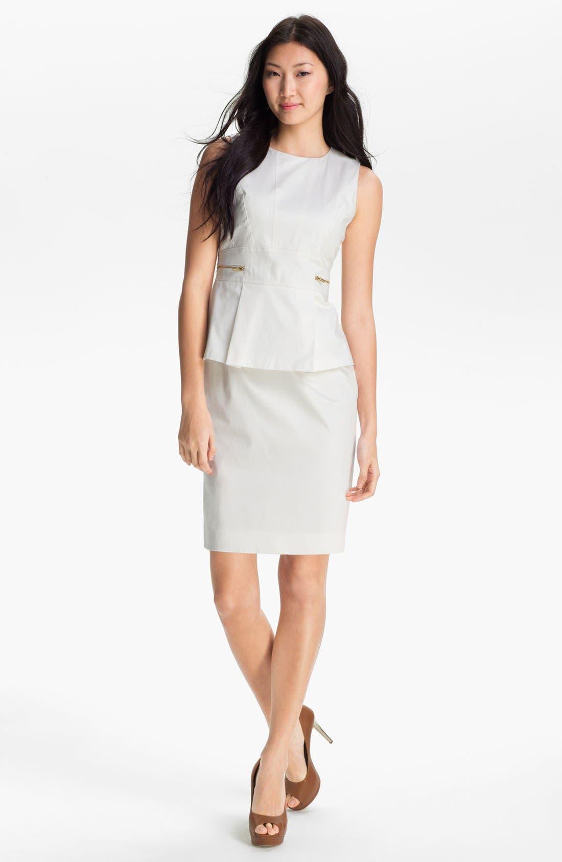 Alternate Image 1 Selected - Calvin Klein Embellished Peplum Dress