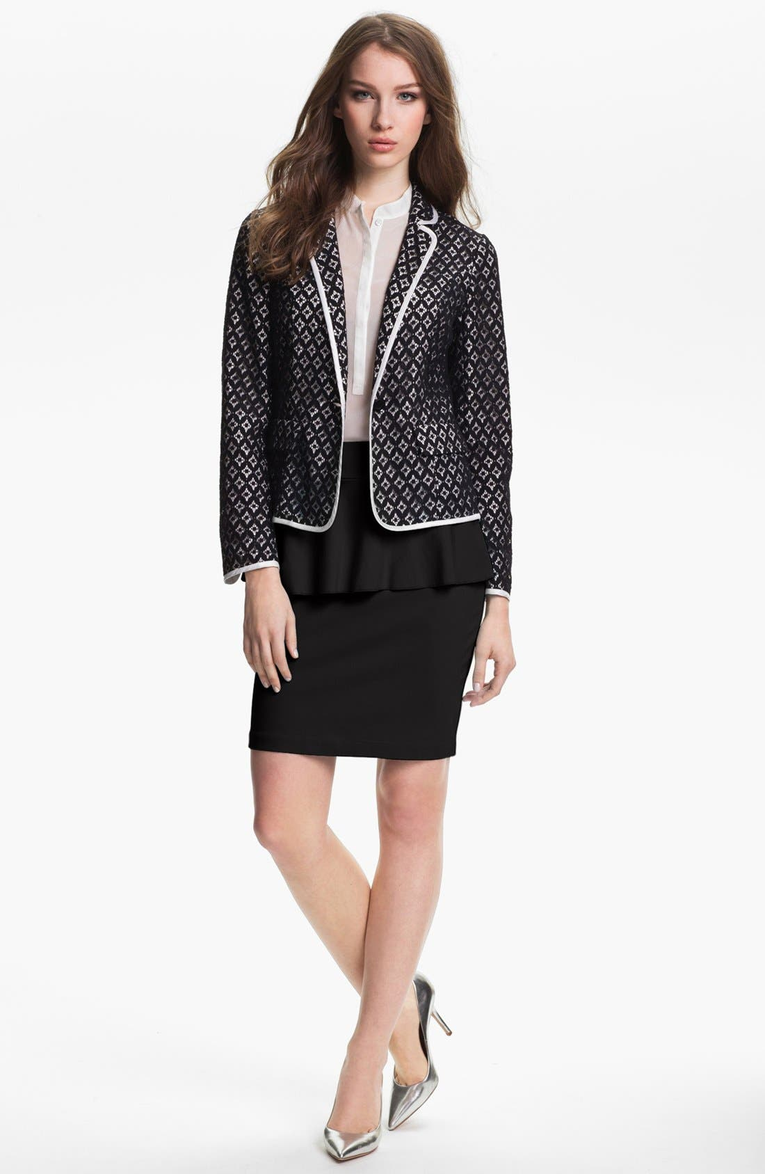 Alternate Image 1 Selected - Kensie 'Geo Lace' Blazer