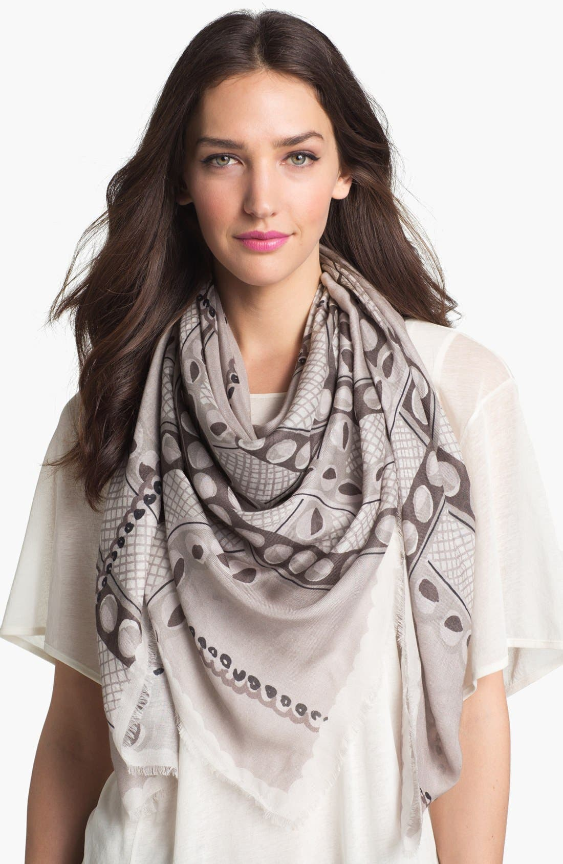 Main Image - Burberry Painted Circle Woven Scarf
