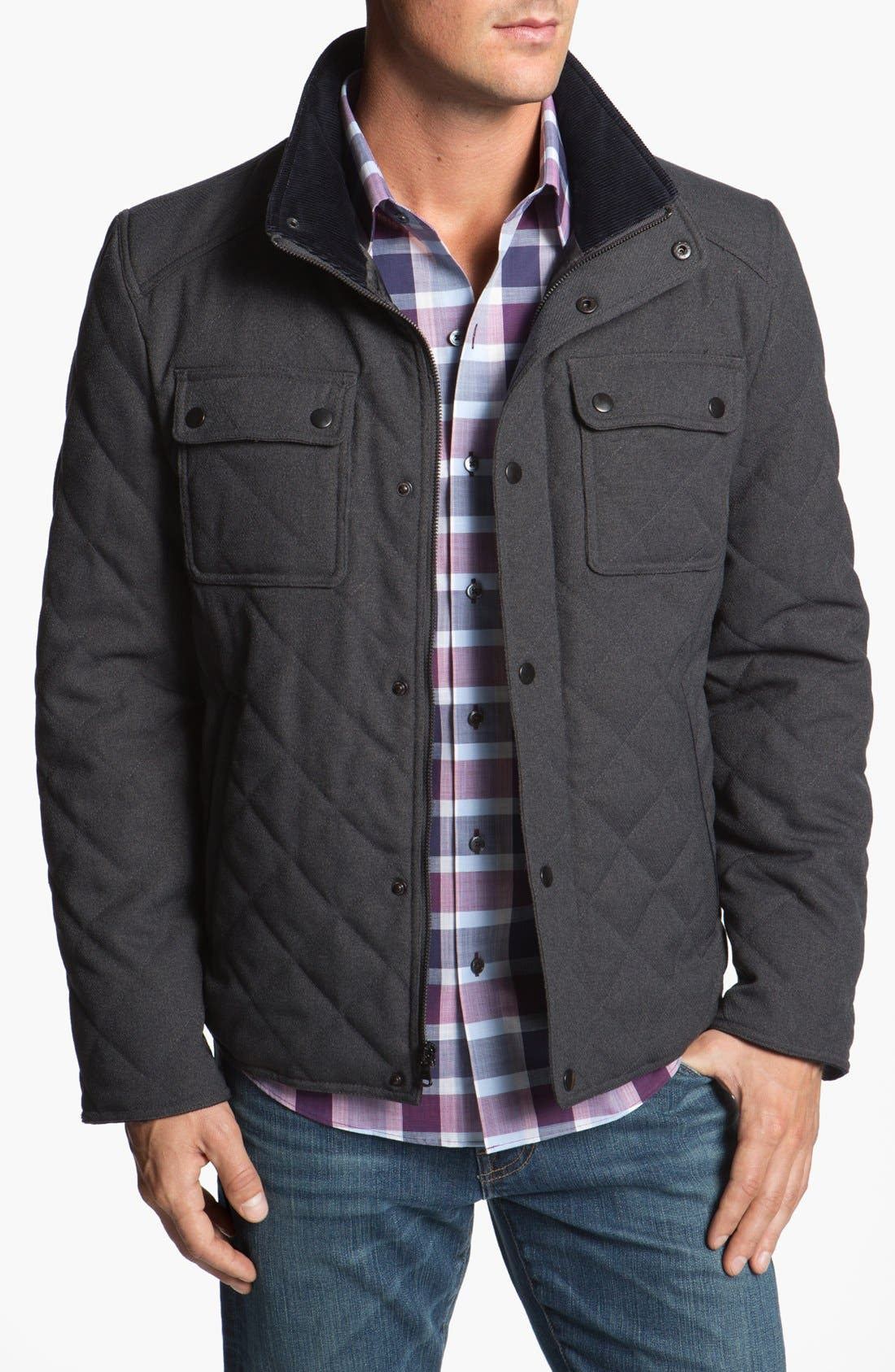Alternate Image 1 Selected - Kenneth Cole New York Quilted Jacket (Online Only)