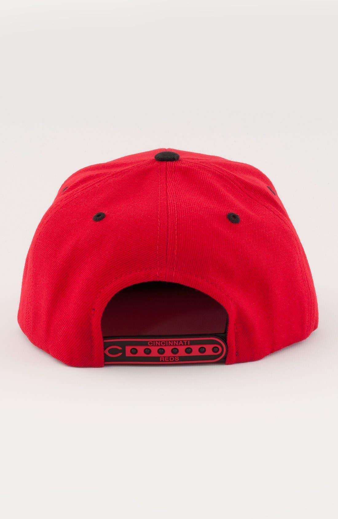 Alternate Image 2  - American Needle 'Cincinnati Reds - Back 2 Front' Snapback Baseball Cap
