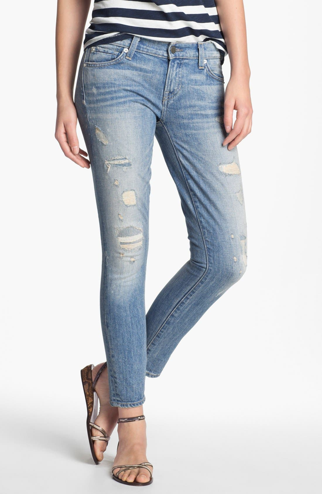 Alternate Image 1 Selected - TEXTILE Elizabeth and James 'Ozzy' Rip & Repair Jeans
