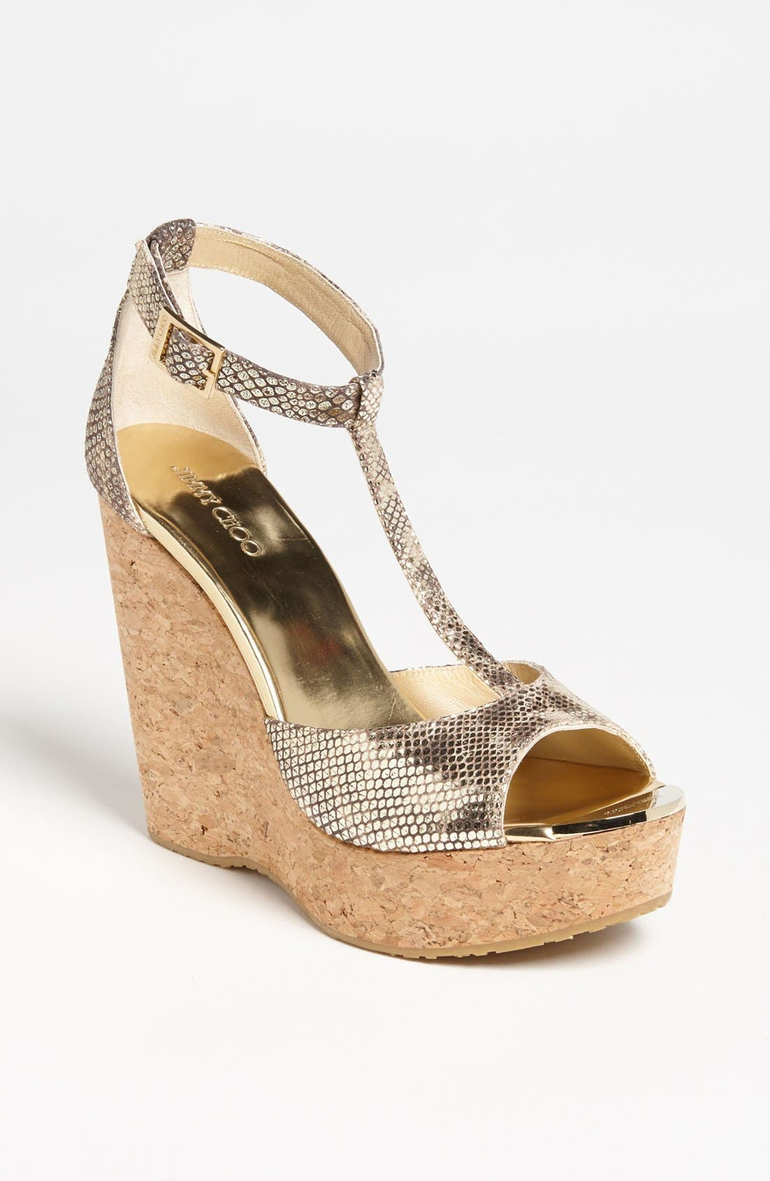 Alternate Image 1 Selected - Jimmy Choo 'Pela' Cork Wedge Sandal