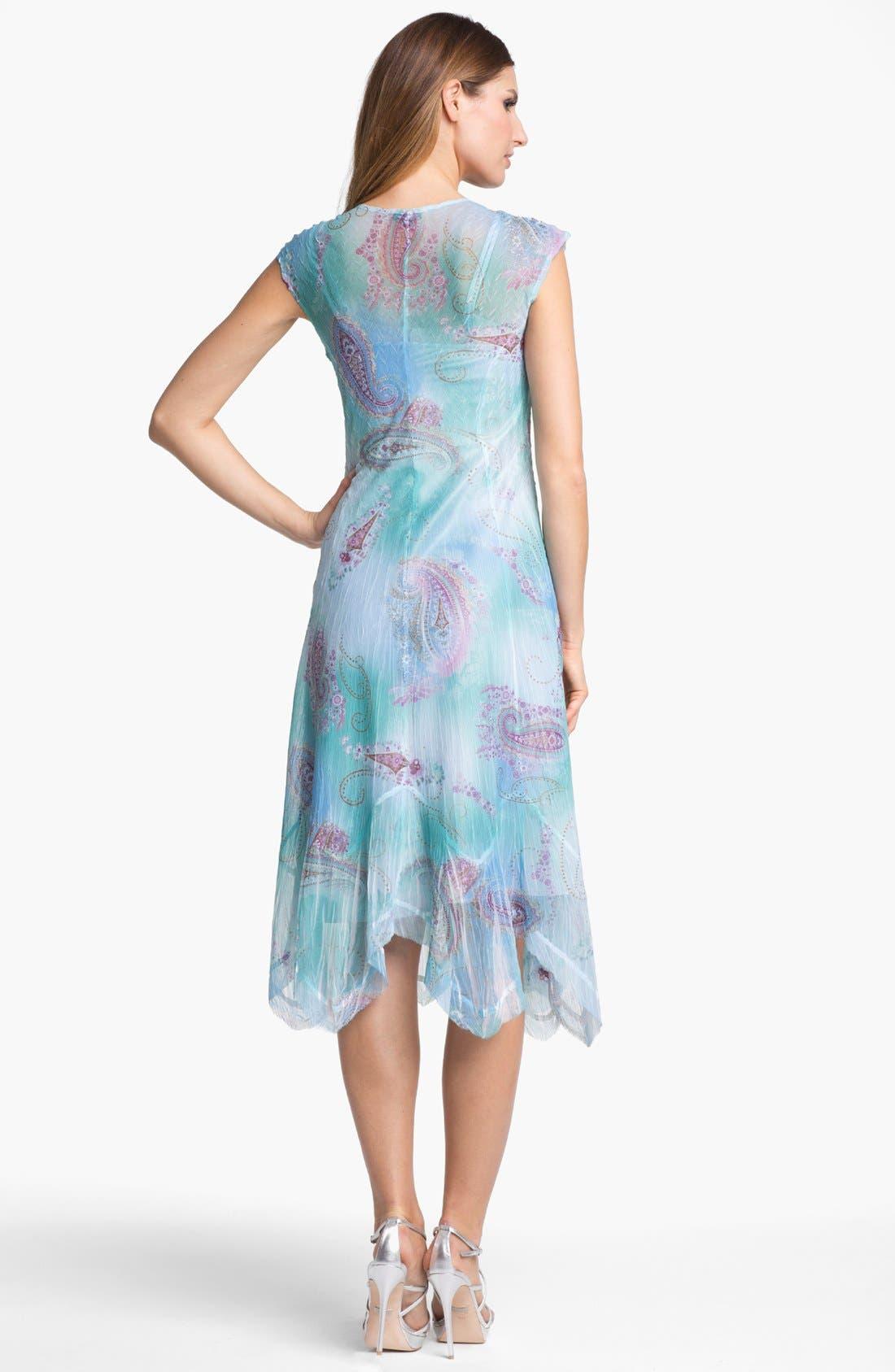 Alternate Image 2  - Komarov Print Chiffon A-Line Dress