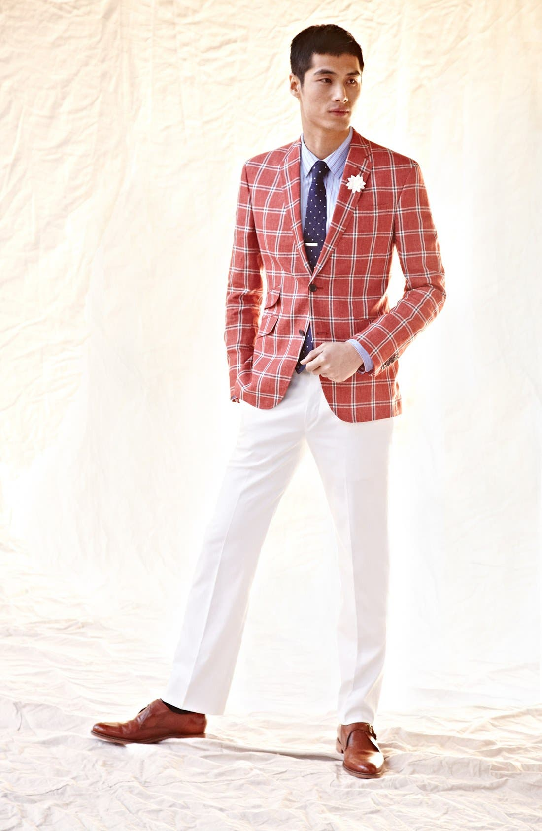 Alternate Image 4  - Ted Baker London Trim Fit Windowpane Sportcoat