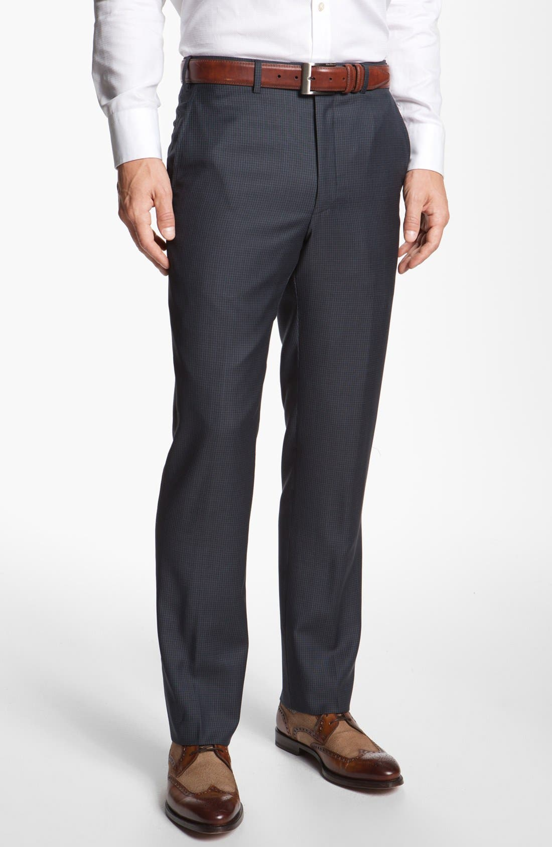 Main Image - Santorelli Flat Front Trousers