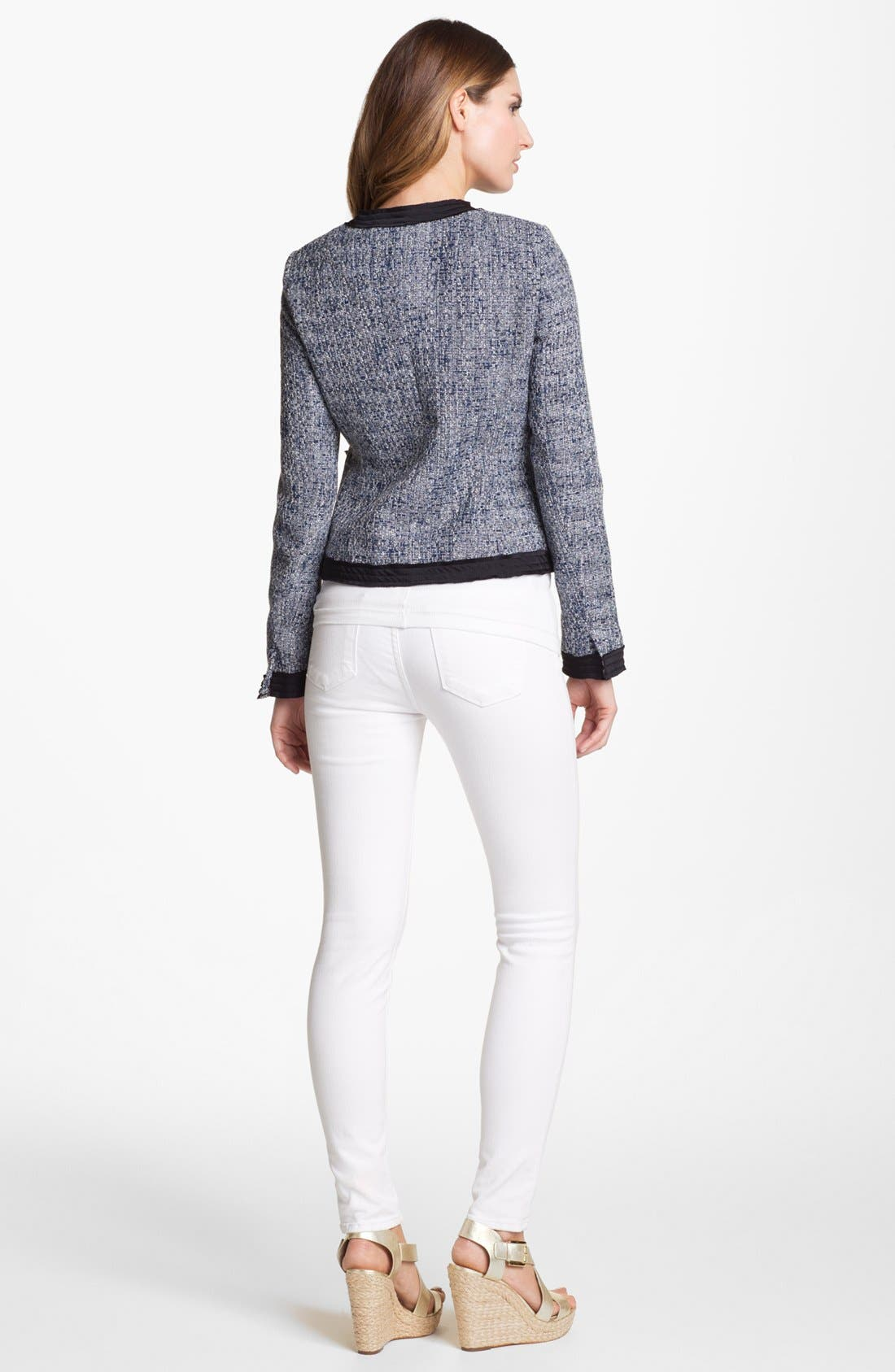 Alternate Image 2  - MICHAEL Michael Kors Woven Trim Tweed Jacket