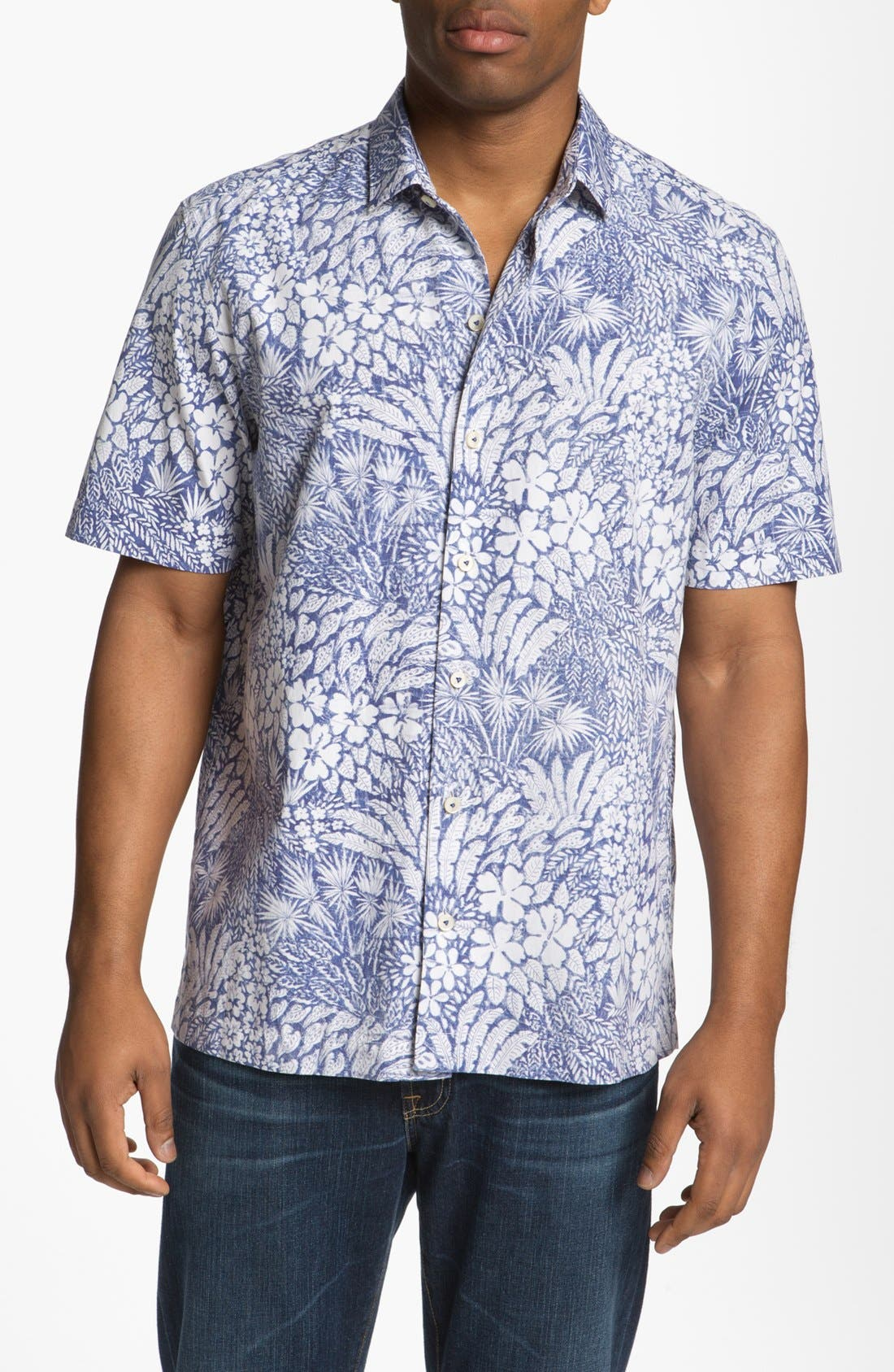 Alternate Image 1 Selected - Tommy Bahama 'Grove Is in the Heart' Silk Blend Campshirt