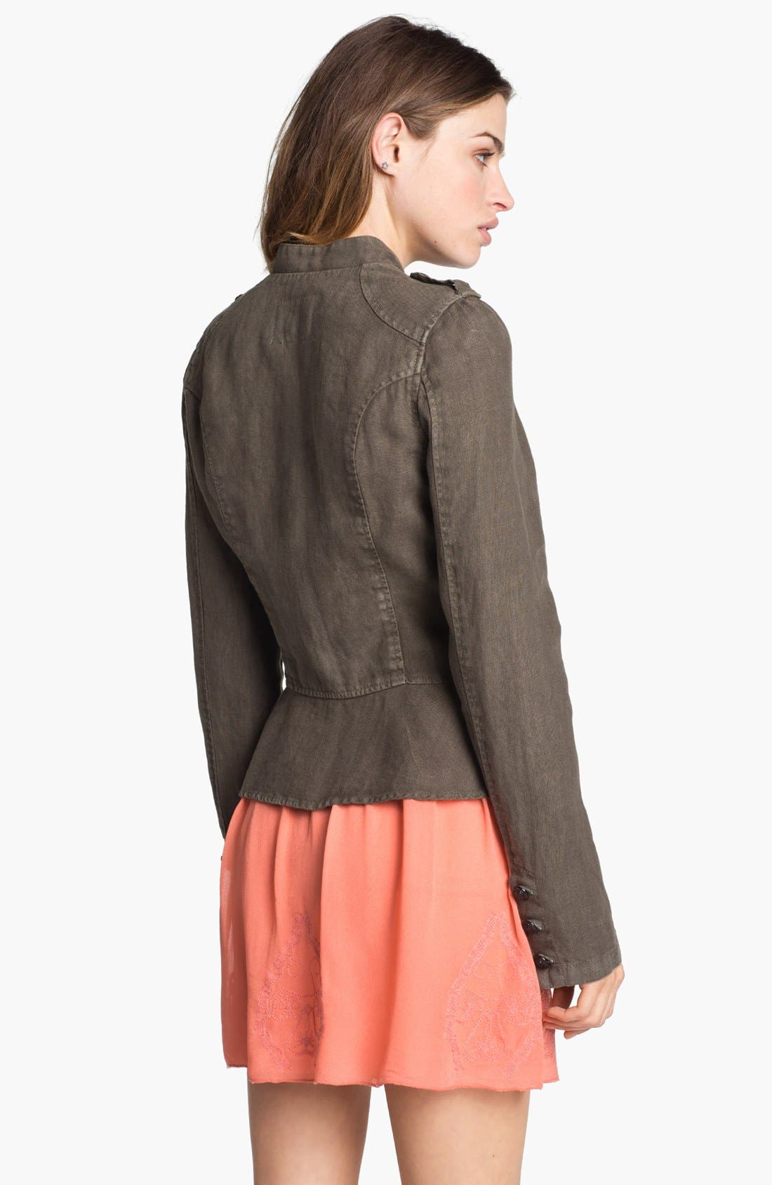 Alternate Image 2  - Sanctuary Linen Peplum Jacket