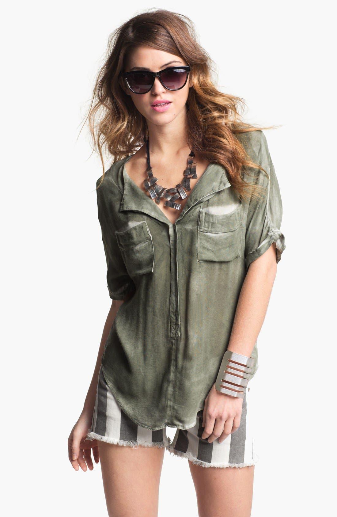 Alternate Image 2  - Natasha Couture Sliced Metal Cuff