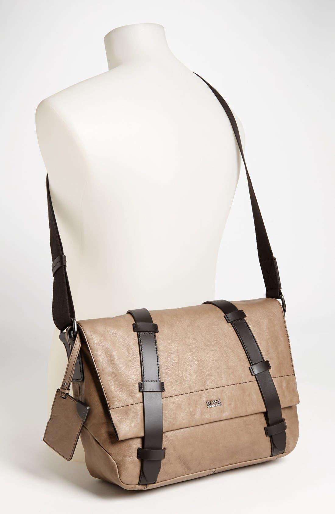 Alternate Image 4  - BOSS Black 'Rotin' Messenger Bag