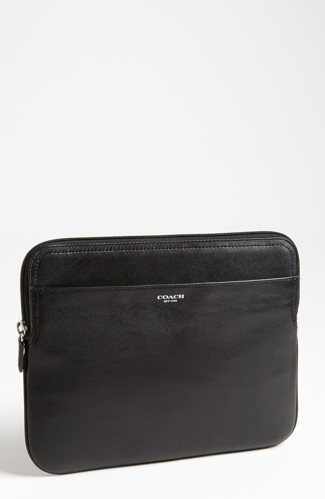 Alternate Image 1 Selected - COACH Leather iPad 2 & 3 Sleeve