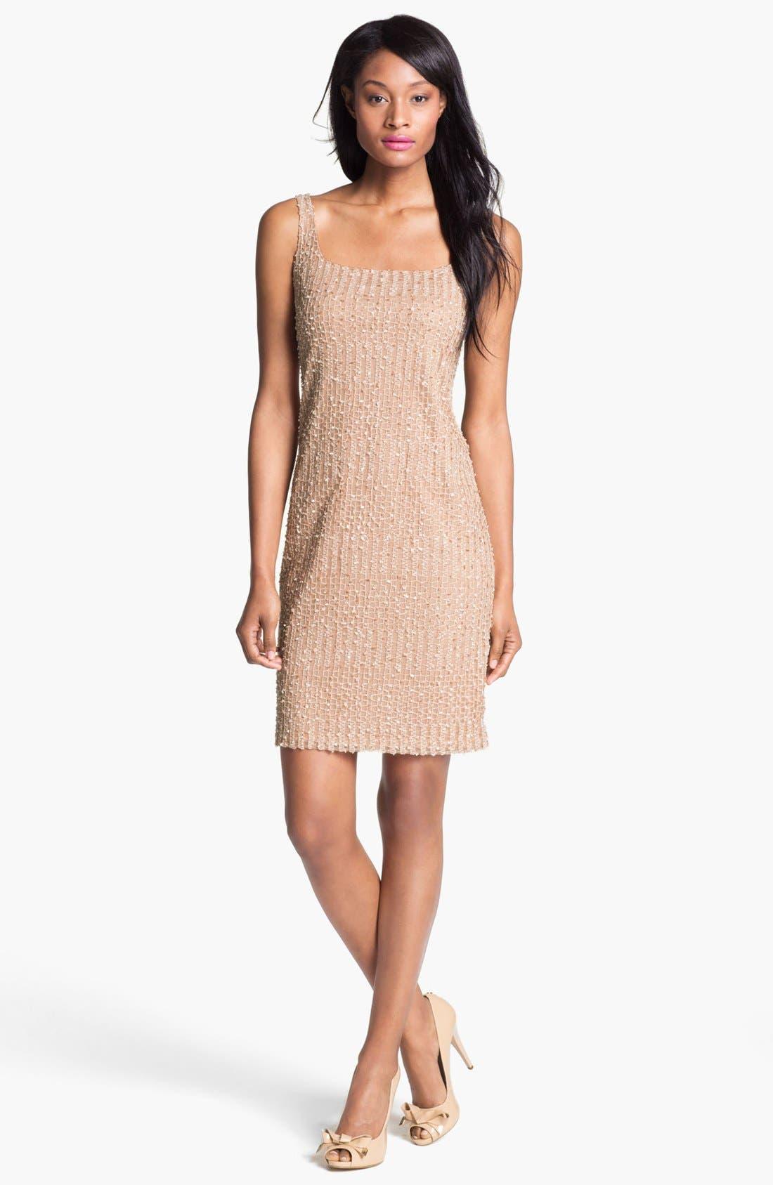 Main Image - Isaac Mizrahi New York Embellished Sleeveless Mesh Dress