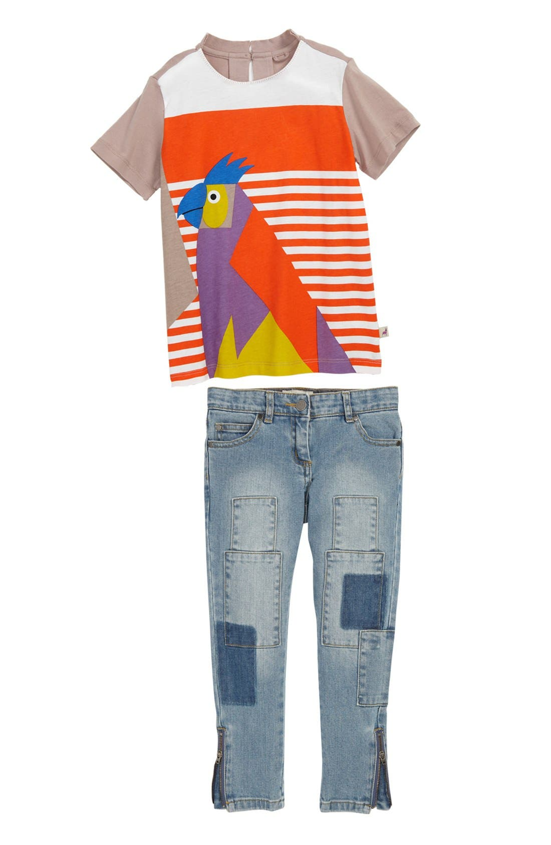 Alternate Image 1 Selected - Stella McCartney Tee & Skinny Jeans (Toddler, Little Girls & Big Girls)