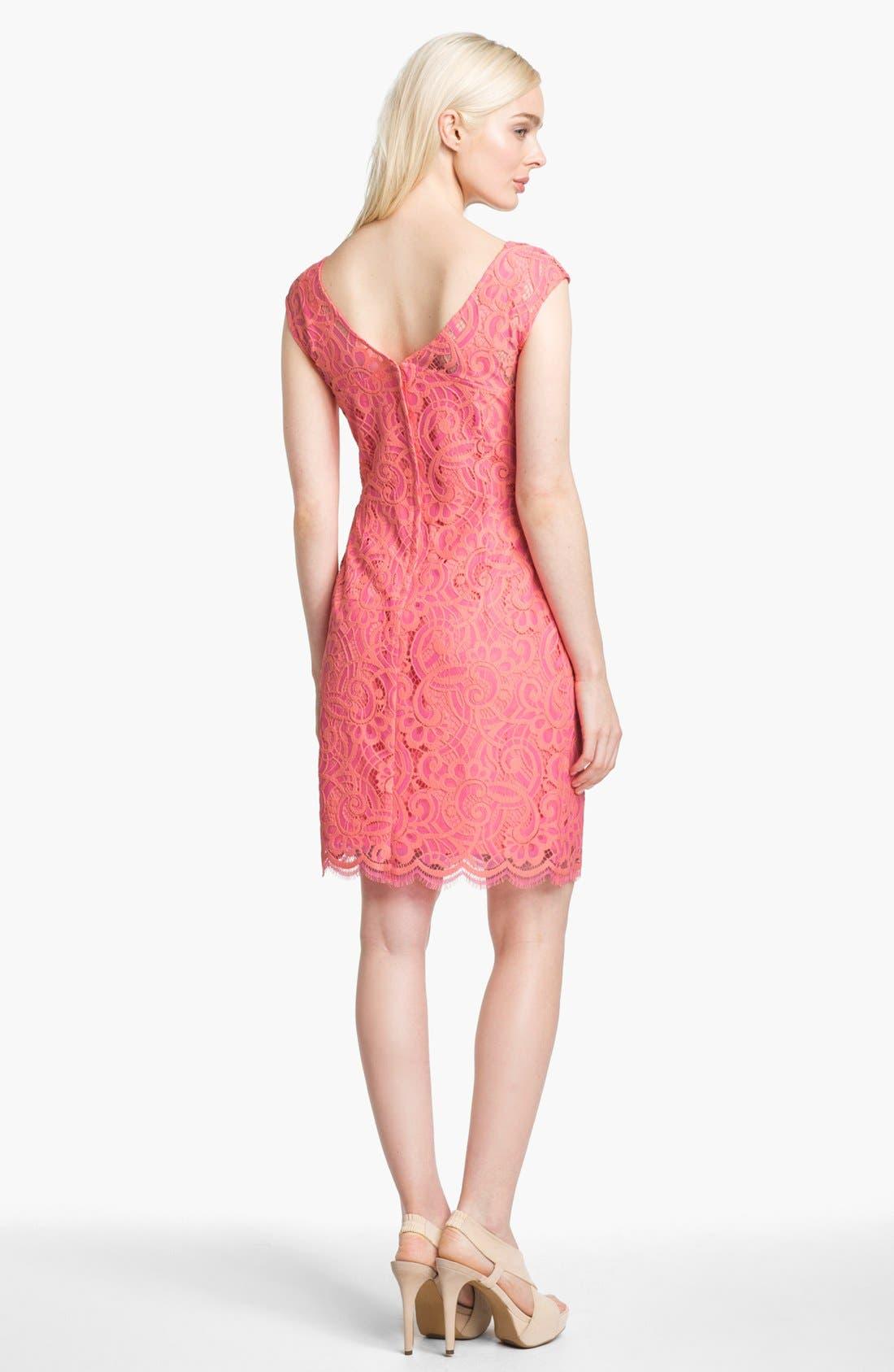 Alternate Image 2  - Lilly Pulitzer® 'Rosaline' Lace Sheath Dress