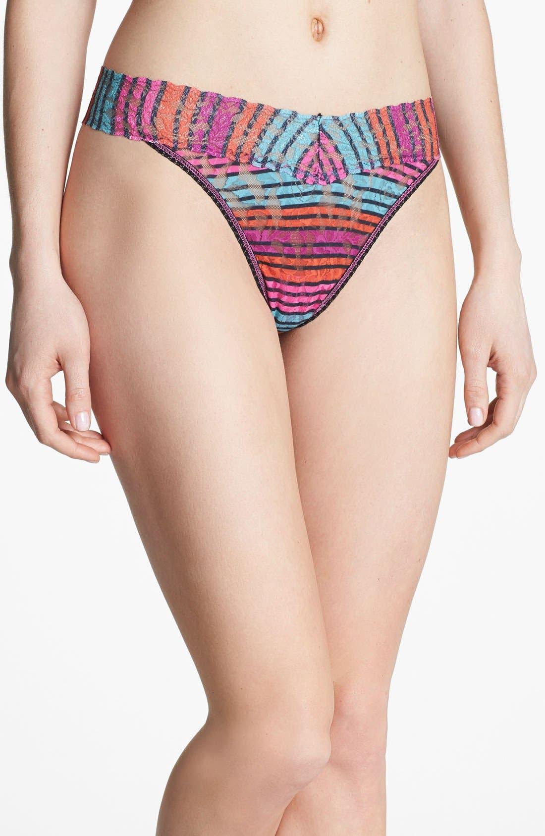 Main Image - Hanky Panky 'Licorice Stripe' Regular Rise Thong test IMT hello