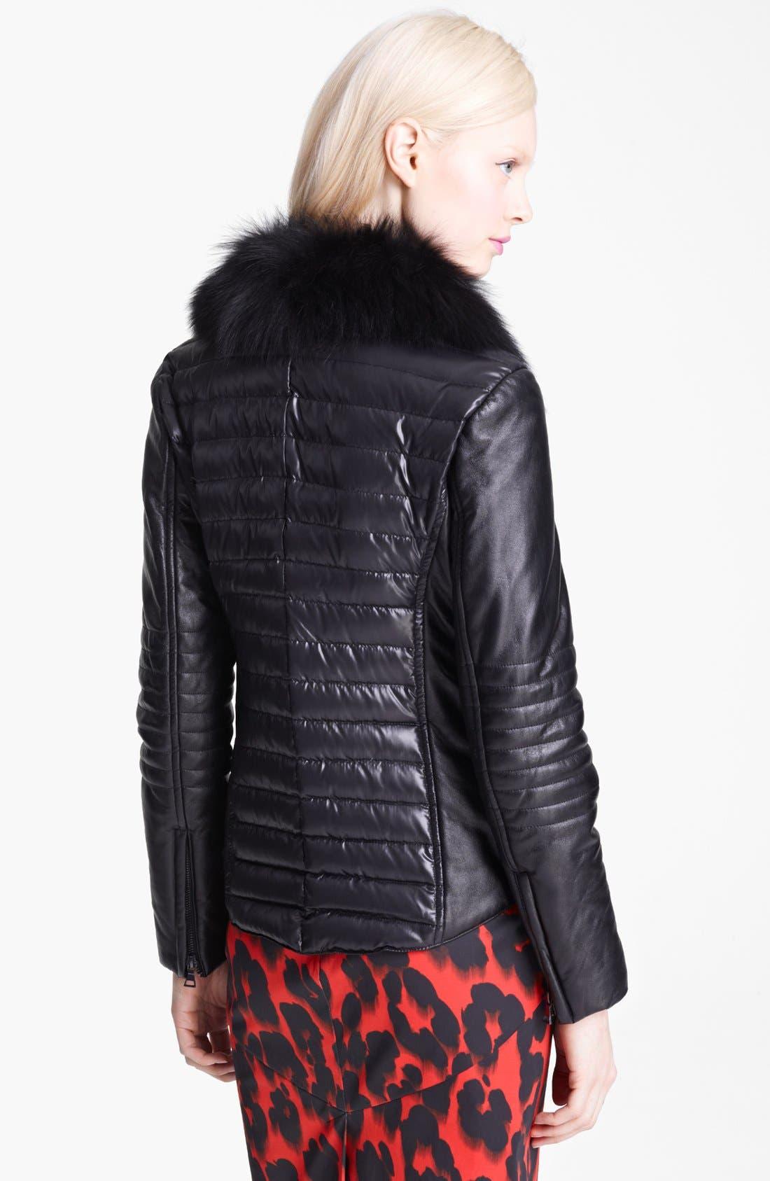 Alternate Image 2  - Moschino Cheap & Chic Genuine Fox Collar Down Jacket