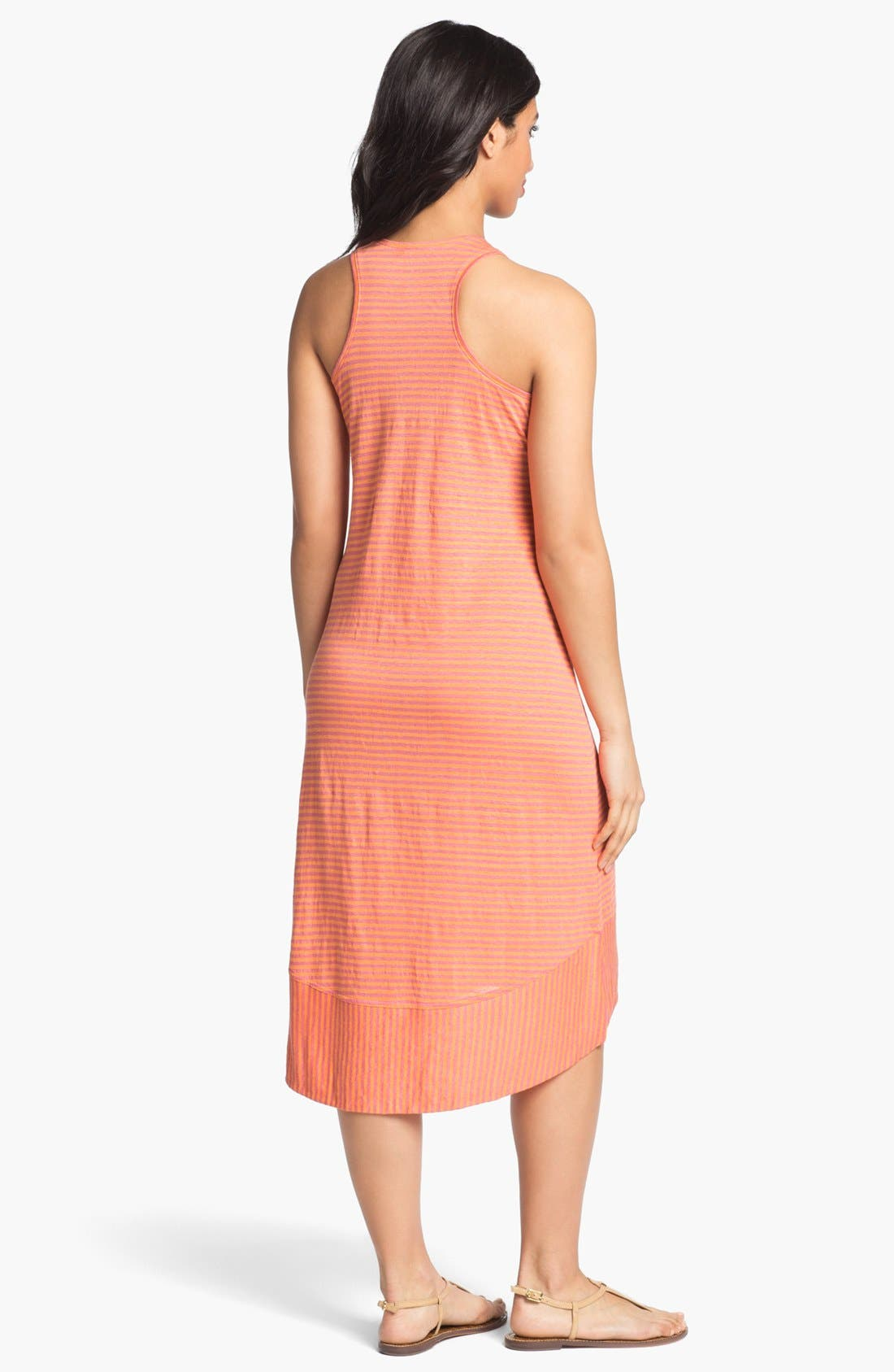 Alternate Image 2  - Eileen Fisher Racerback Linen Jersey Dress