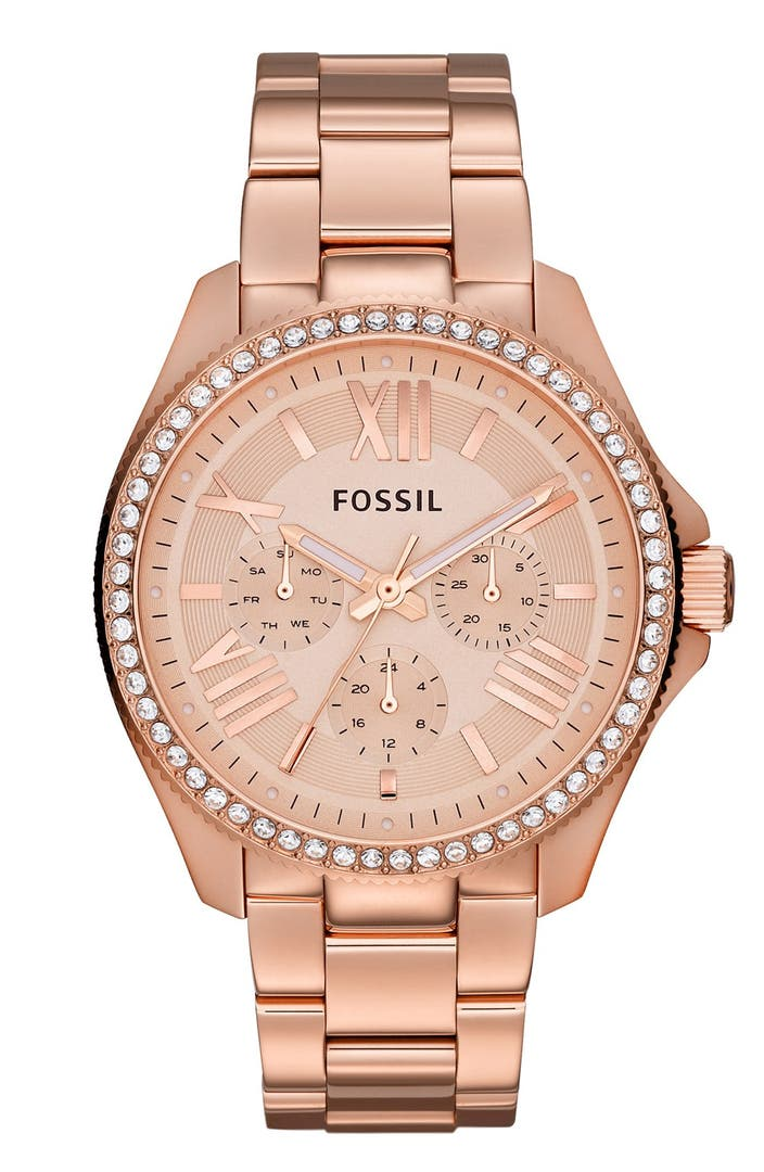 Fossil 39 cecile 39 multifunction bracelet watch 40mm nordstrom for Watches 40mm