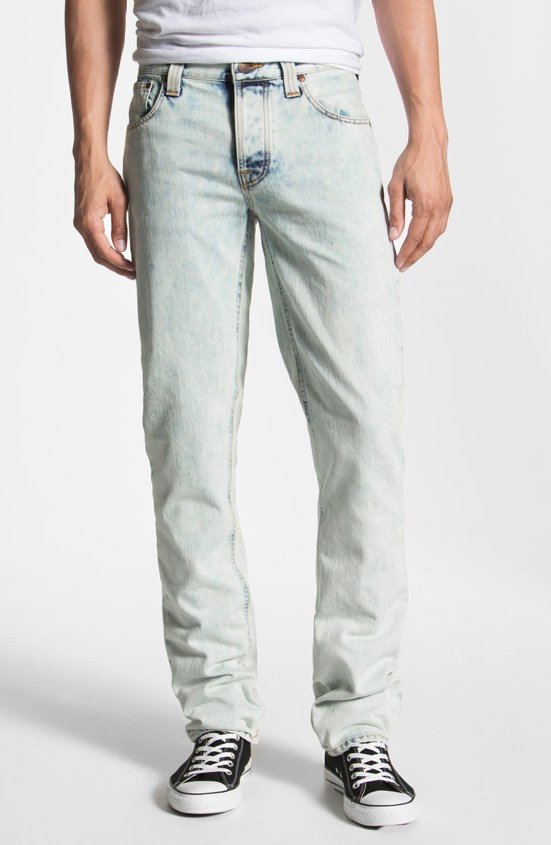 Alternate Image 2  - Nudie 'Grim Tim' Skinny Straight Leg Jeans (Organic Bleach Depot)