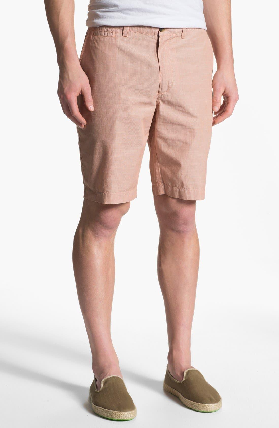 Main Image - Wallin & Bros. 'Lanspur' Flat Front Shorts