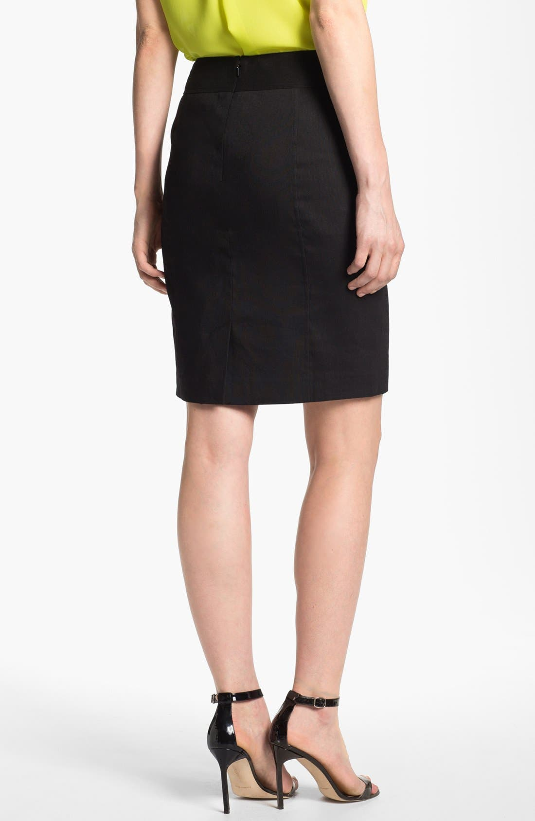 Alternate Image 2  - Halogen® Linen Blend Pencil Skirt