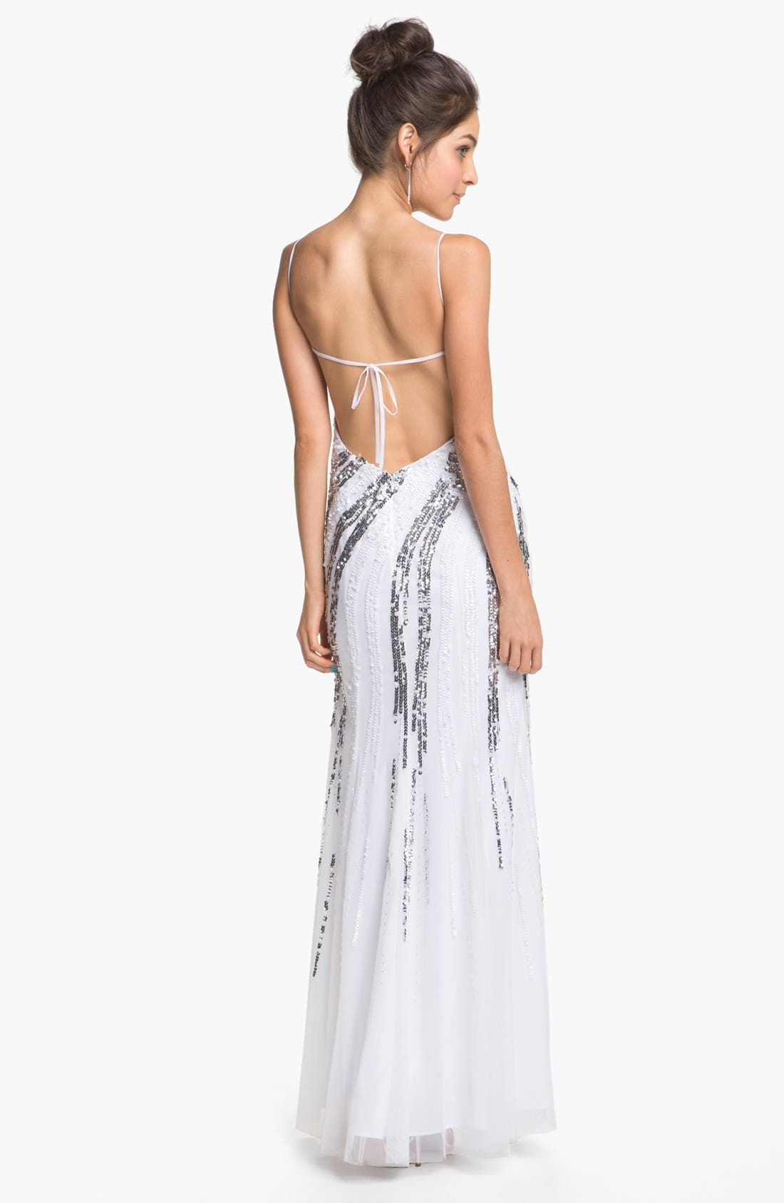 Alternate Image 2  - Sean Collection Embellished Chiffon Gown (Online Only)