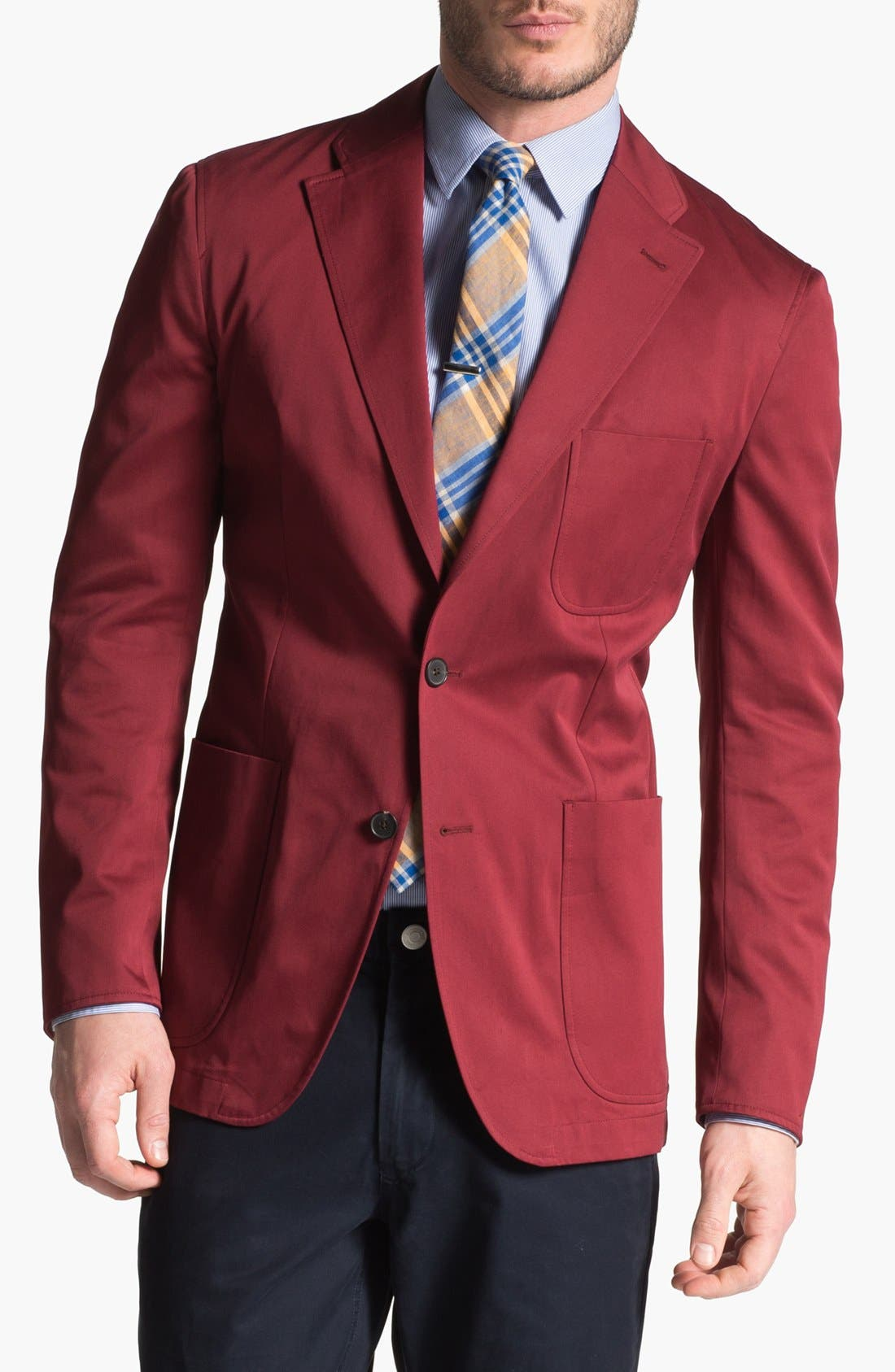 Alternate Image 1 Selected - Joseph Abboud Trim Fit Cotton Blazer