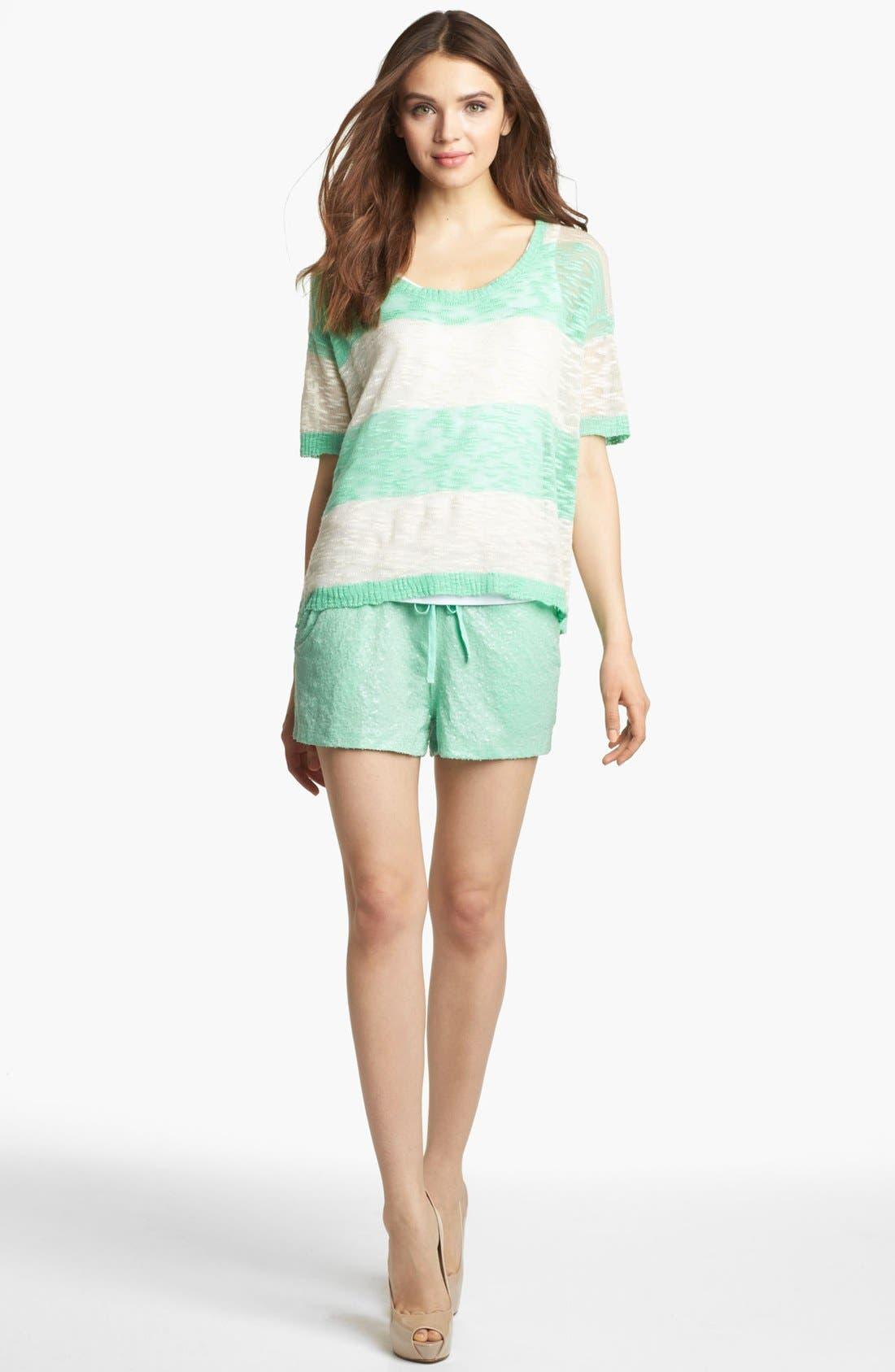 Alternate Image 4  - Kensie Sequin Shorts