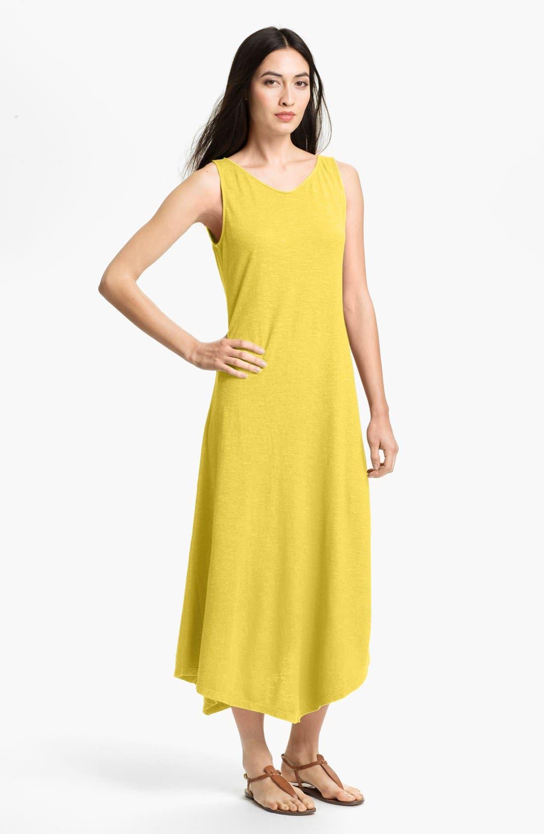 Main Image - Eileen Fisher Wide V-Neck Midi Dress