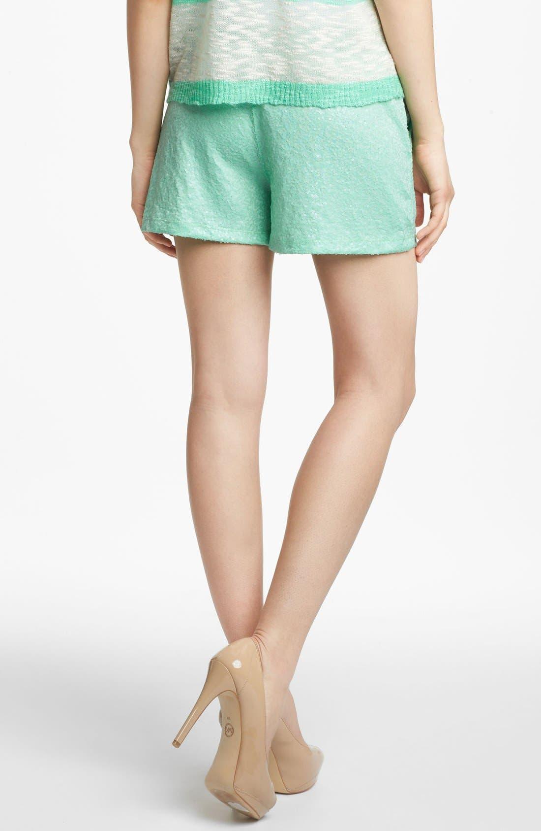 Alternate Image 2  - Kensie Sequin Shorts