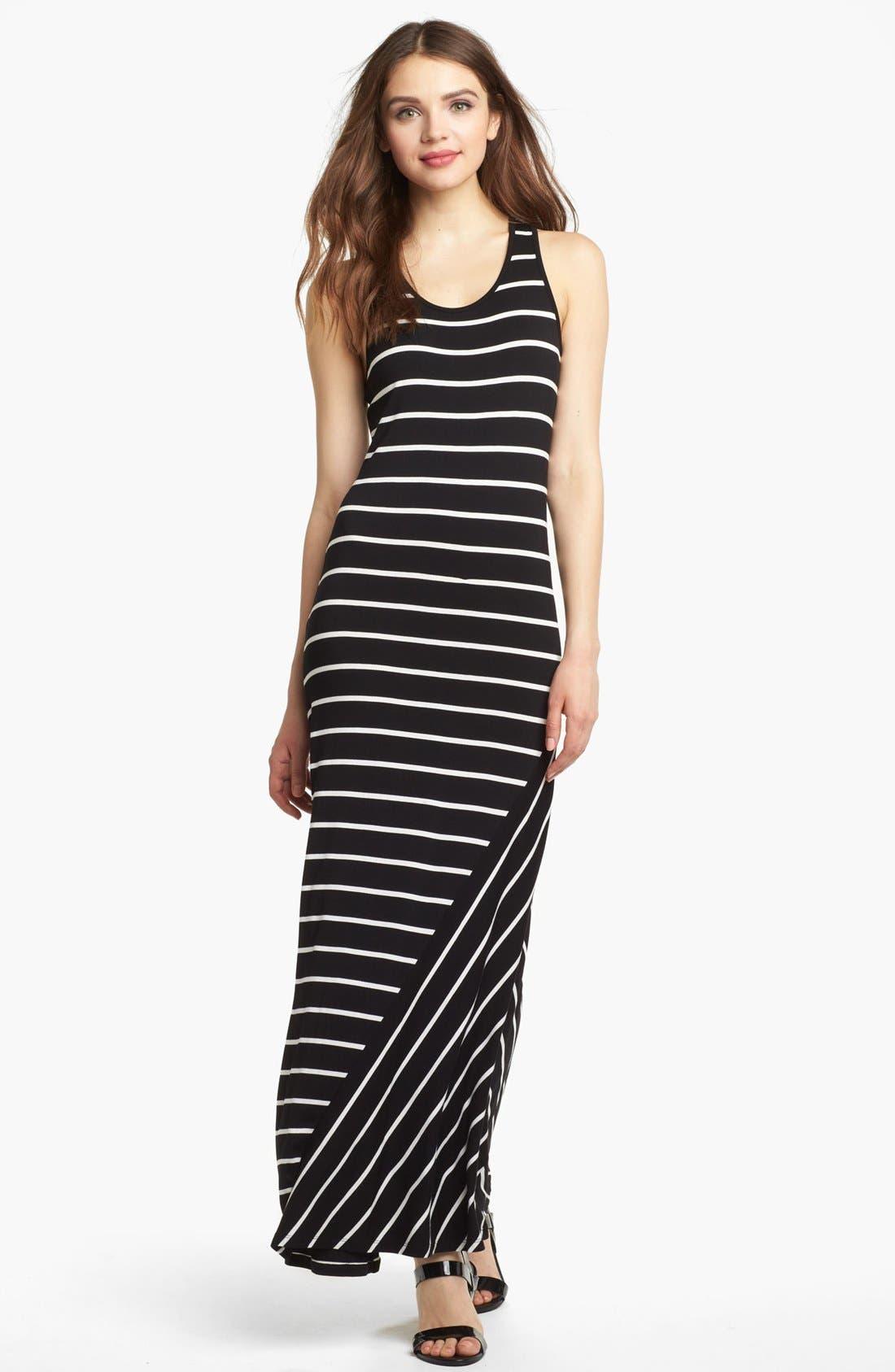 Alternate Image 1 Selected - Kensie Stripe Maxi Dress