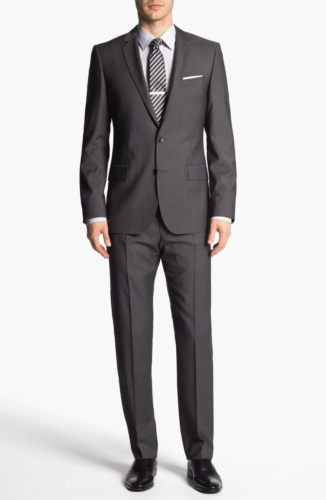 Alternate Image 1 Selected - HUGO 'Amaro/Heise' Trim Fit Wool Suit