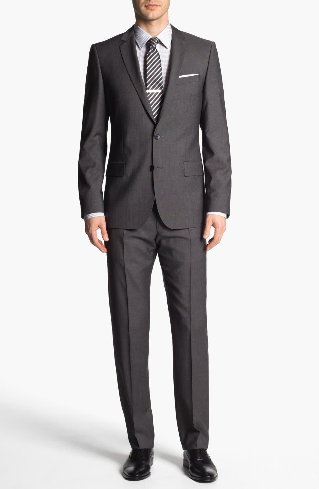 Main Image - HUGO 'Amaro/Heise' Trim Fit Wool Suit