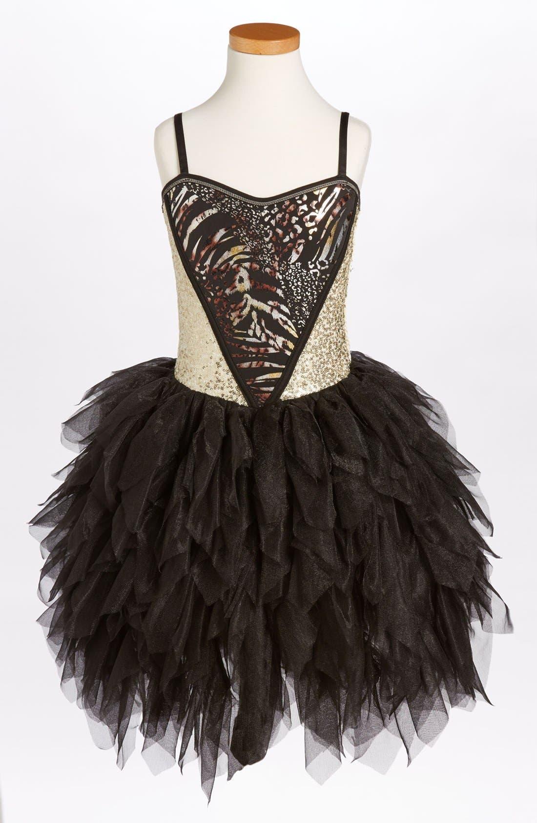 Alternate Image 1 Selected - Ooh! La, La! Couture 'Wow - Metallic' Dress (Big Girls) (Online Only)