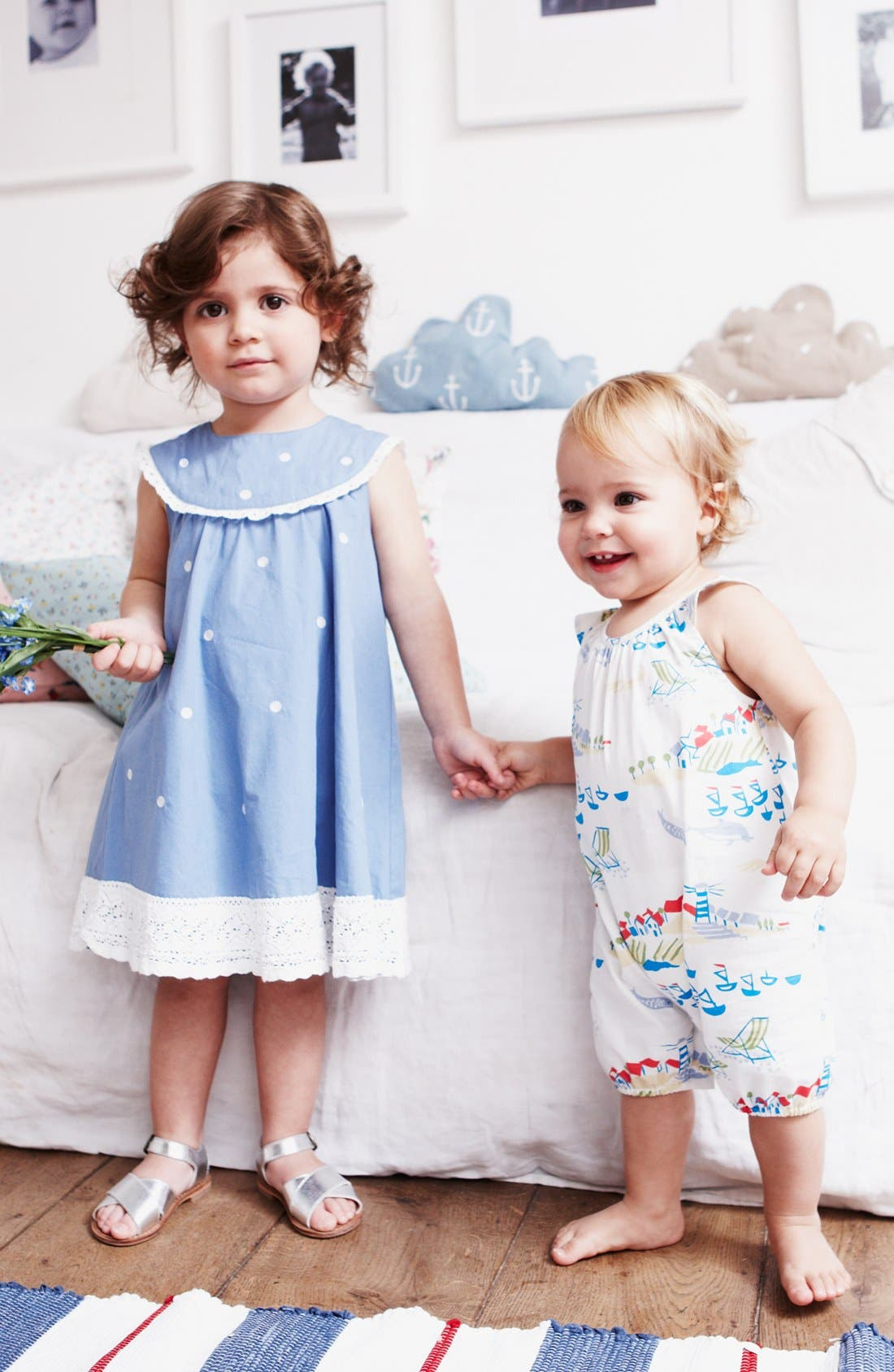 Alternate Image 2  - Mini Boden 'Crochet Trim' Dress & Bloomers (Baby)