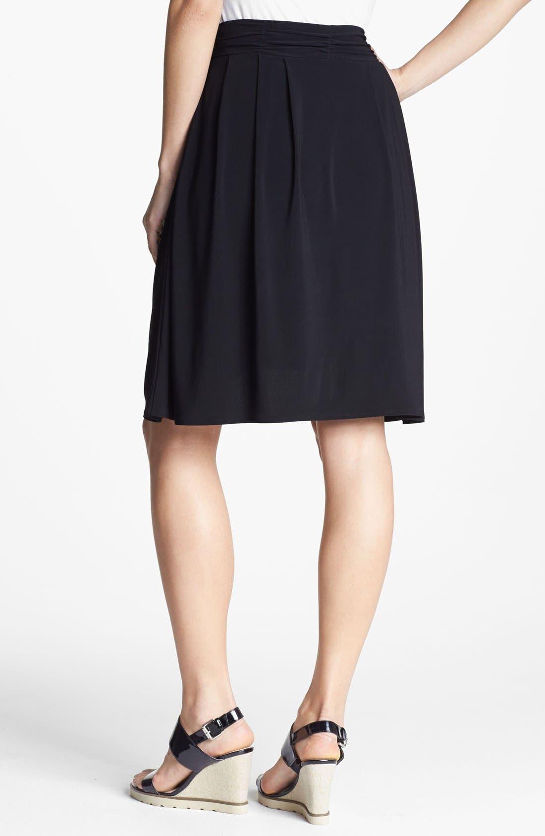 Alternate Image 2  - Chaus Ruched Waist Skirt