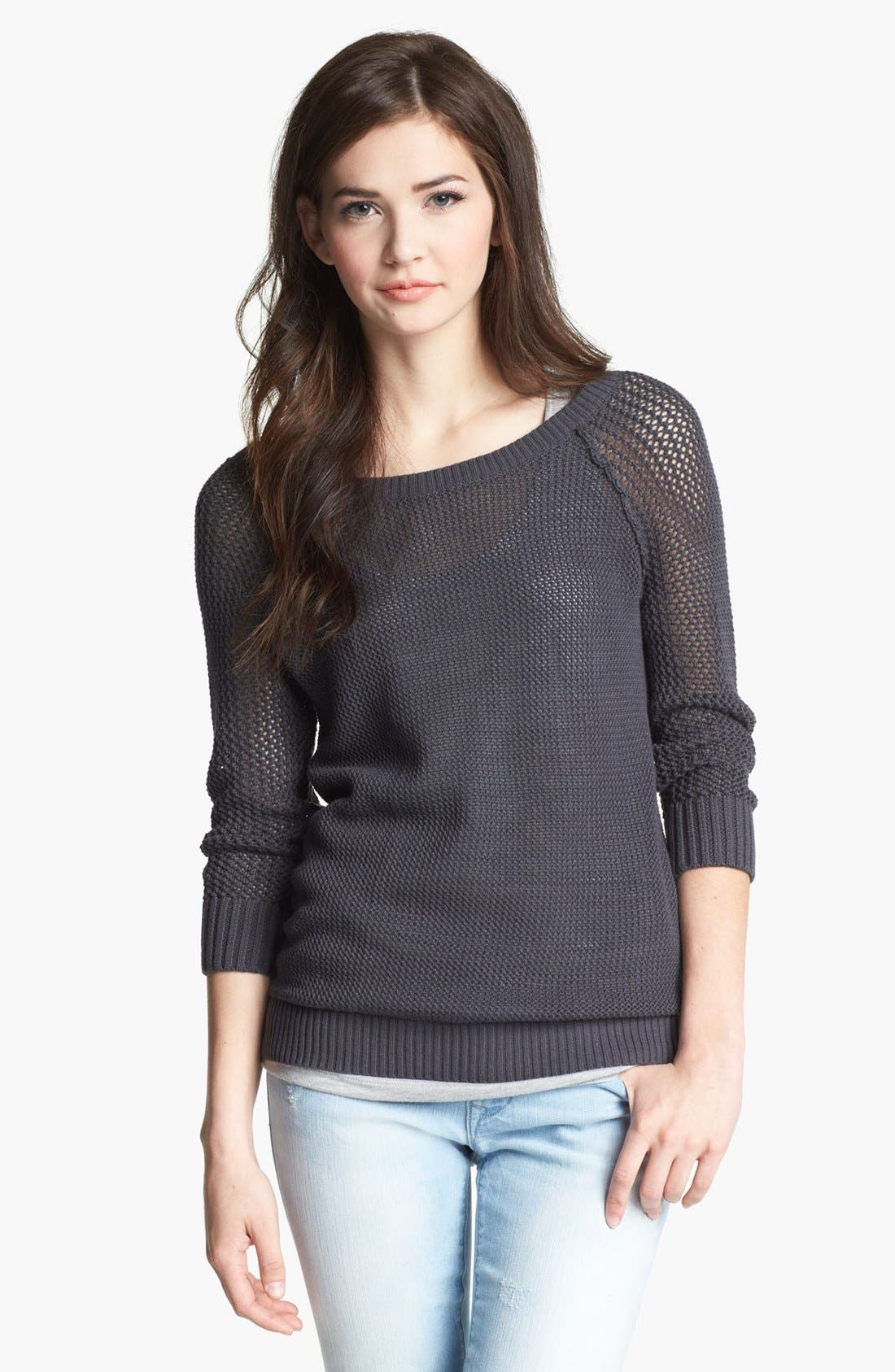 Alternate Image 1 Selected - Caslon® Open Knit Sweater