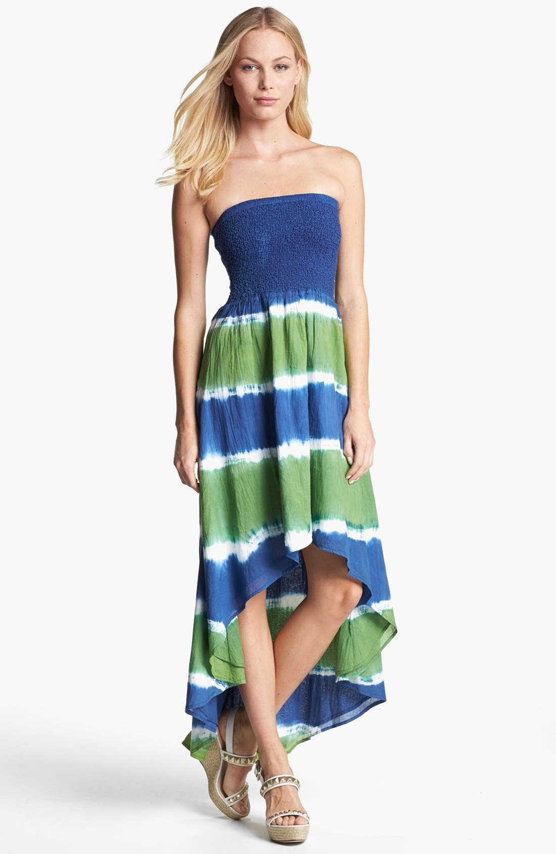 Alternate Image 1 Selected - MICHAEL Michael Kors Strapless High/Low Maxi Dress