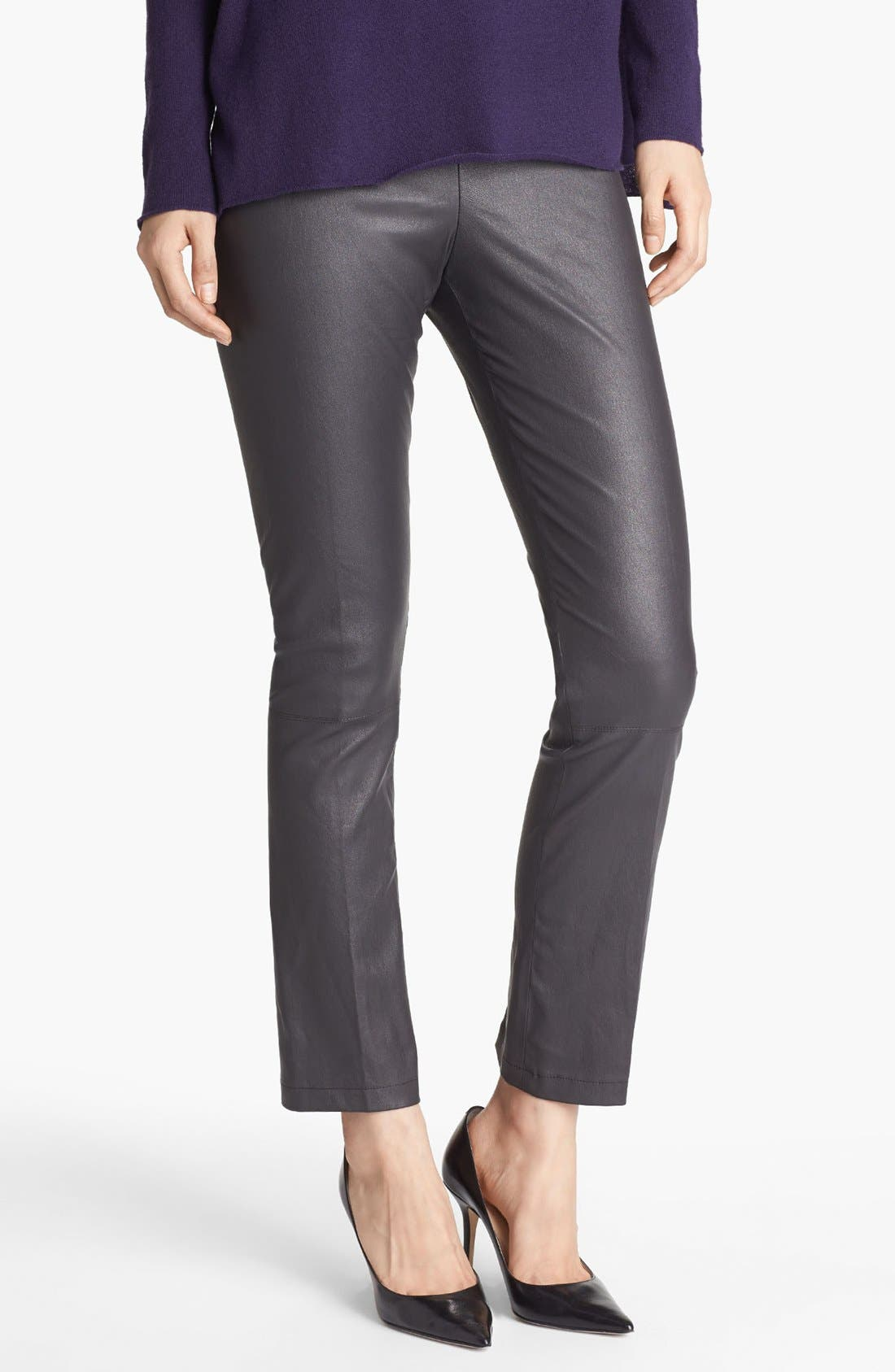 Alternate Image 1 Selected - Vince Crop Bootcut Leather Pants
