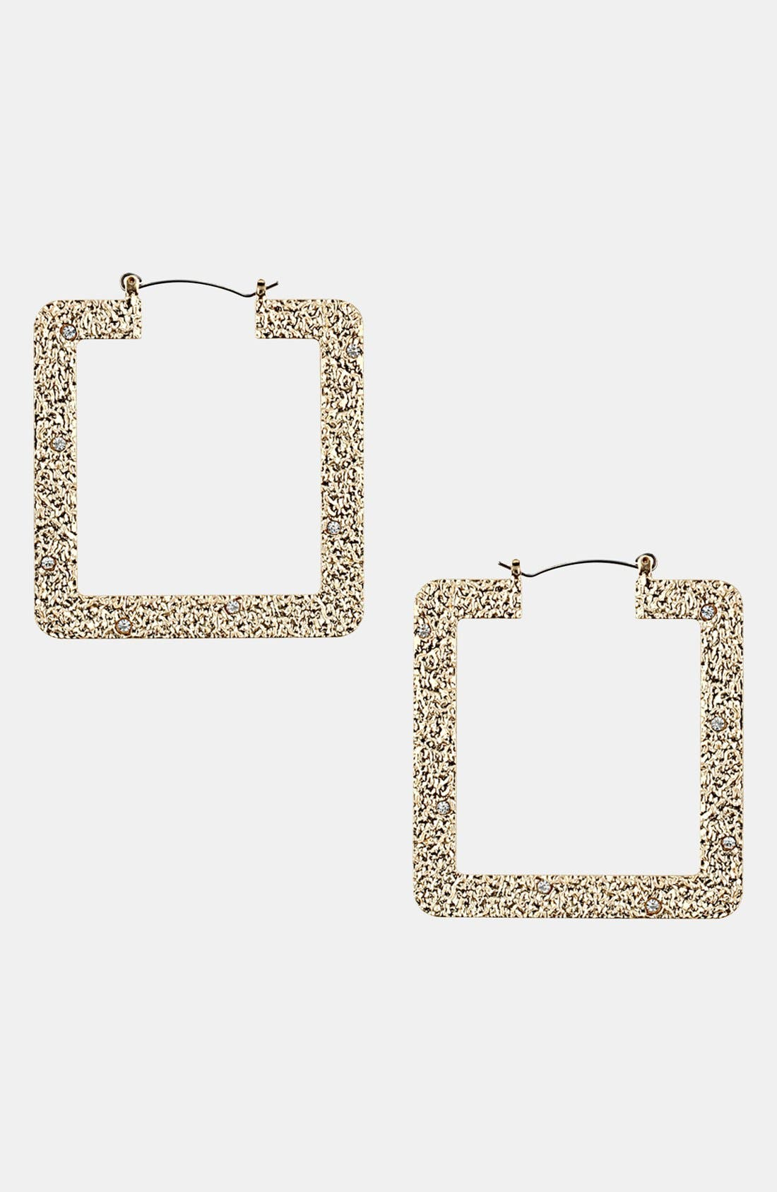 Alternate Image 1 Selected - Topshop Square Hoop Earrings
