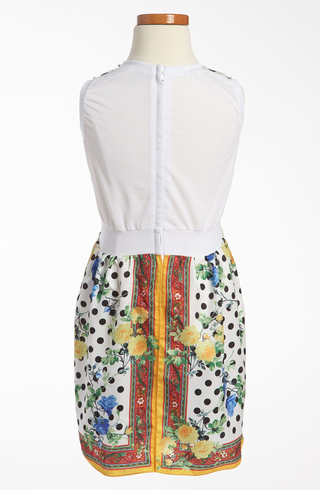 Alternate Image 2  - Dolce&Gabbana Rose Print Dress (Little Girls & Big Girls)