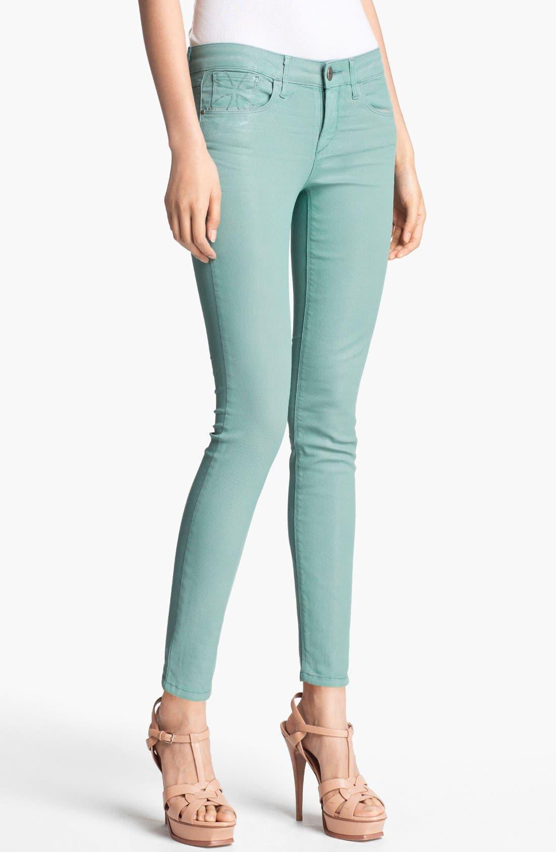 Alternate Image 1 Selected - Habitual 'Angelina' Coated Cigarette Leg Stretch Jeans