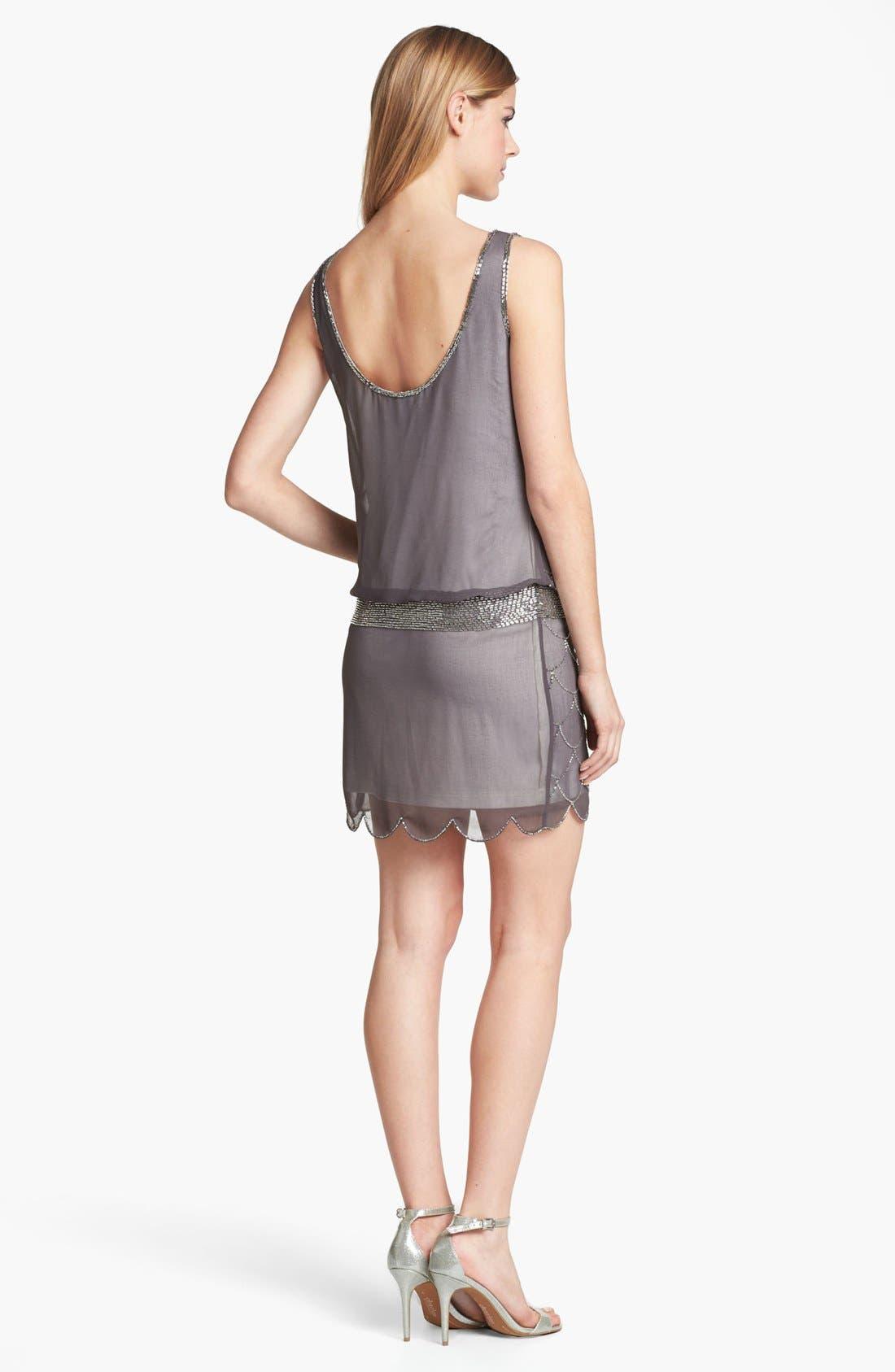 Alternate Image 2  - Adrianna Papell 'Fish Scale' Embellished Mesh Dress