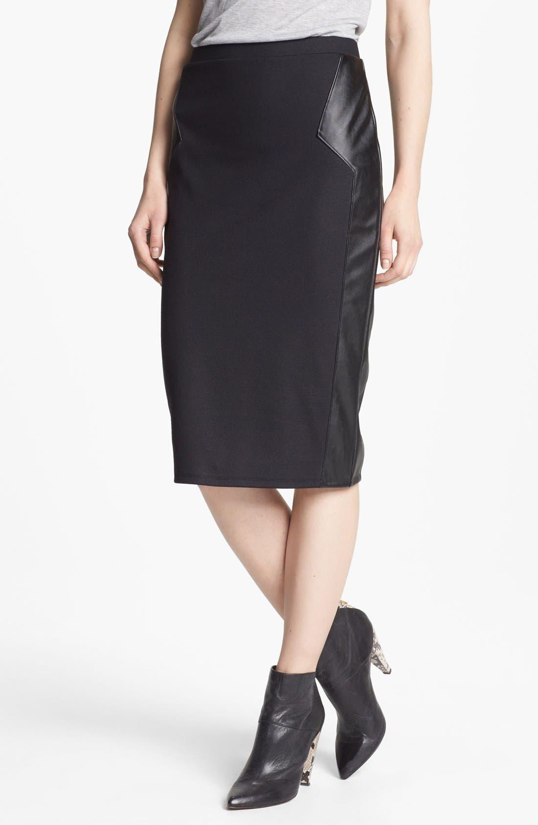 Main Image - BCBGeneration Military Jacket & Trouvé Pencil Skirt