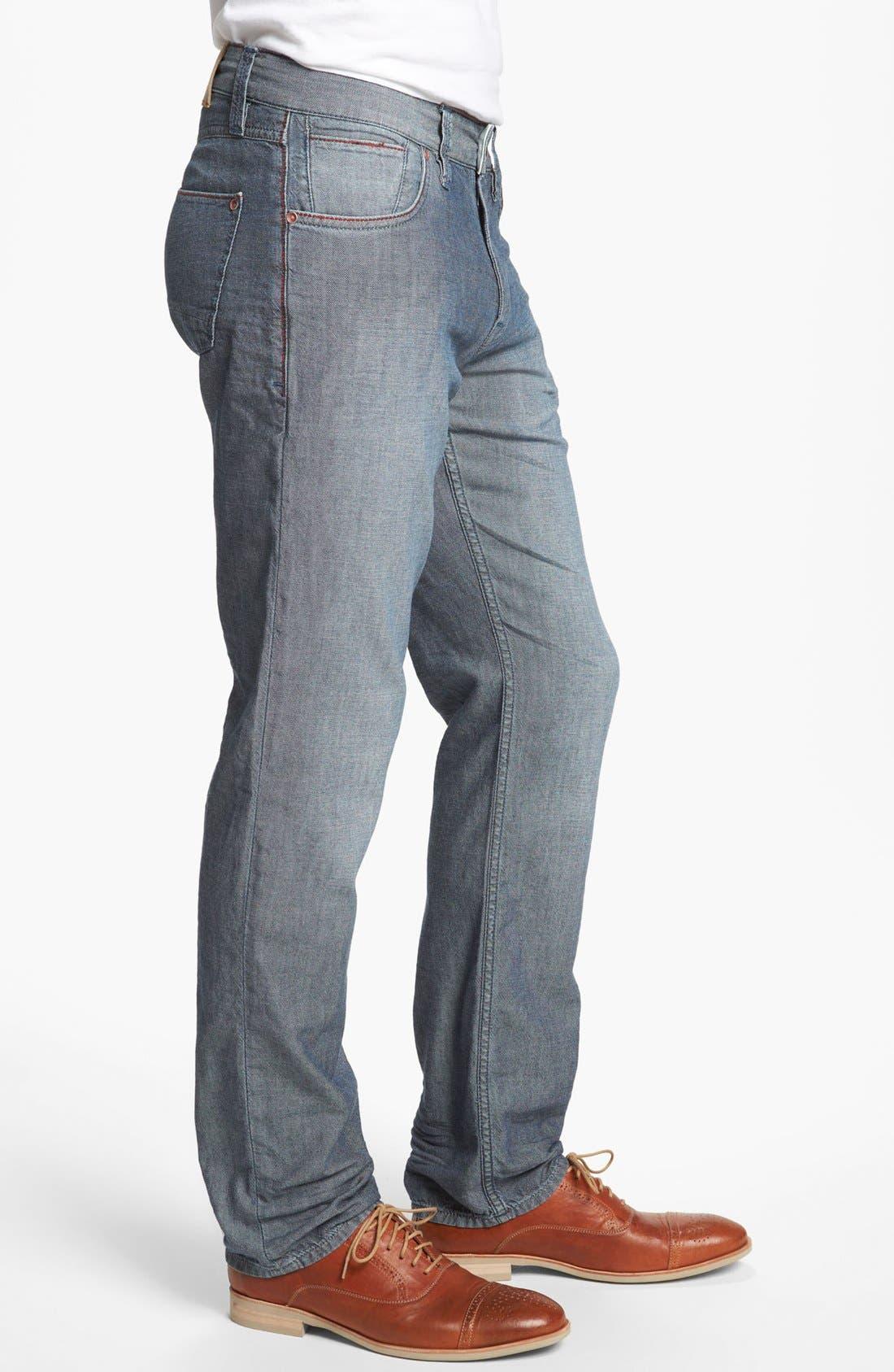 Alternate Image 3  - Robert Graham 'Denim Nails' Classic Fit Jeans (Indigo)