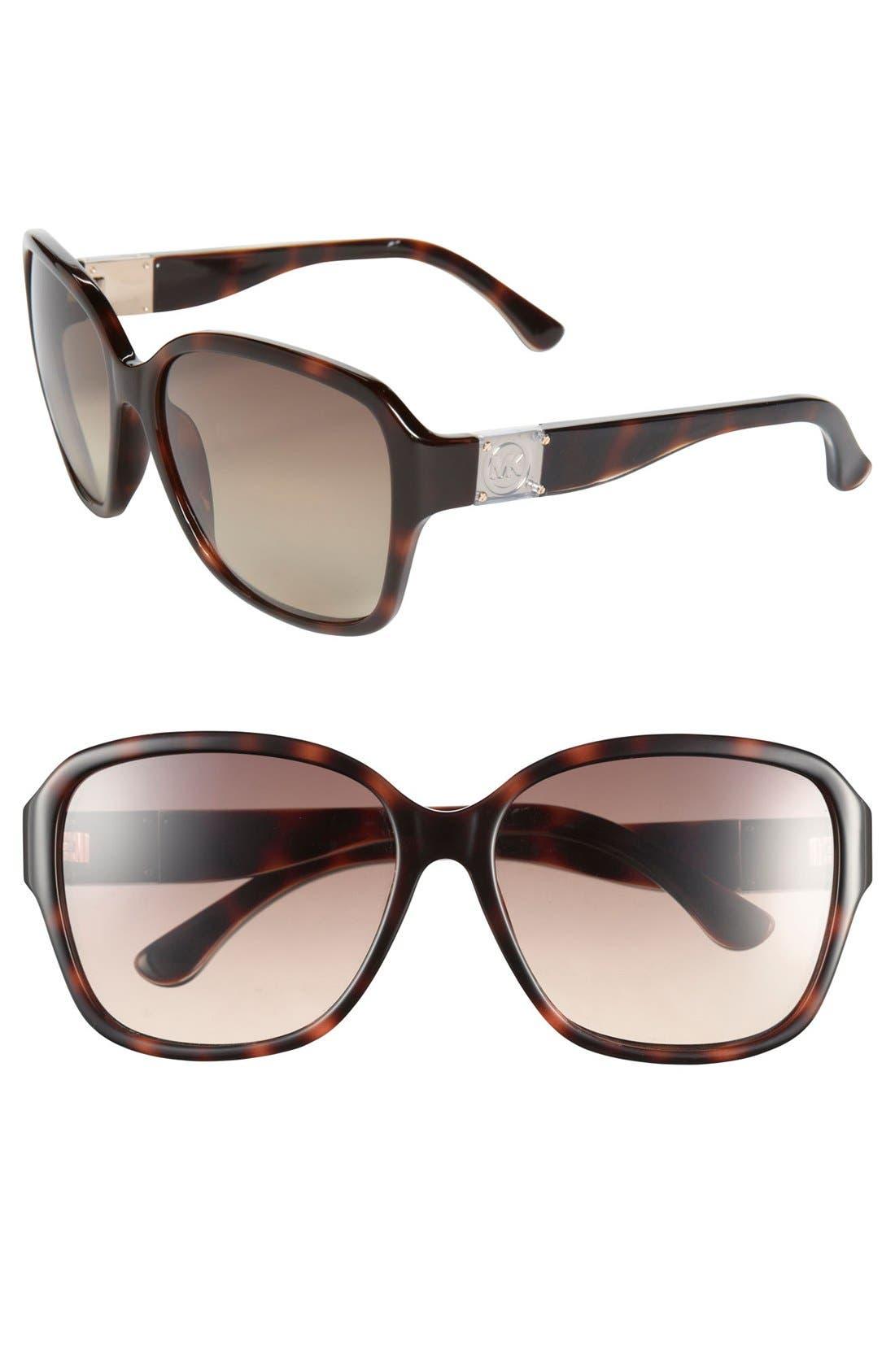 Alternate Image 1 Selected - MICHAEL Michael Kors 'Layla' 58mm Sunglasses