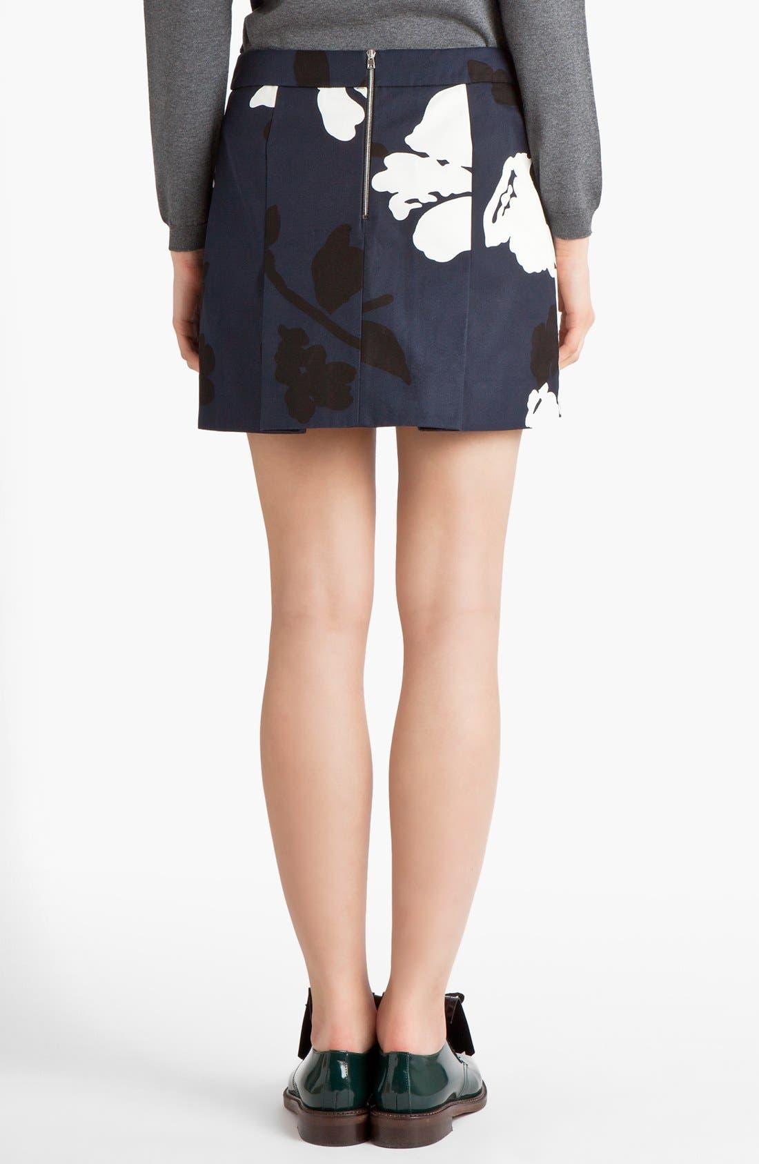 Alternate Image 2  - Marni Print Gabardine Miniskirt